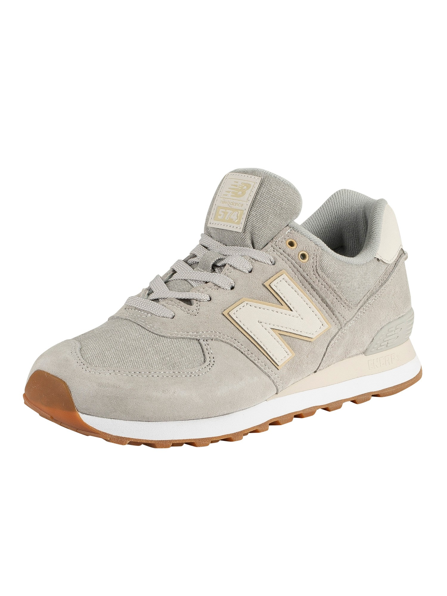 lowest price 6a329 a0cda New Balance 574 Suede Trainers - Light Grey