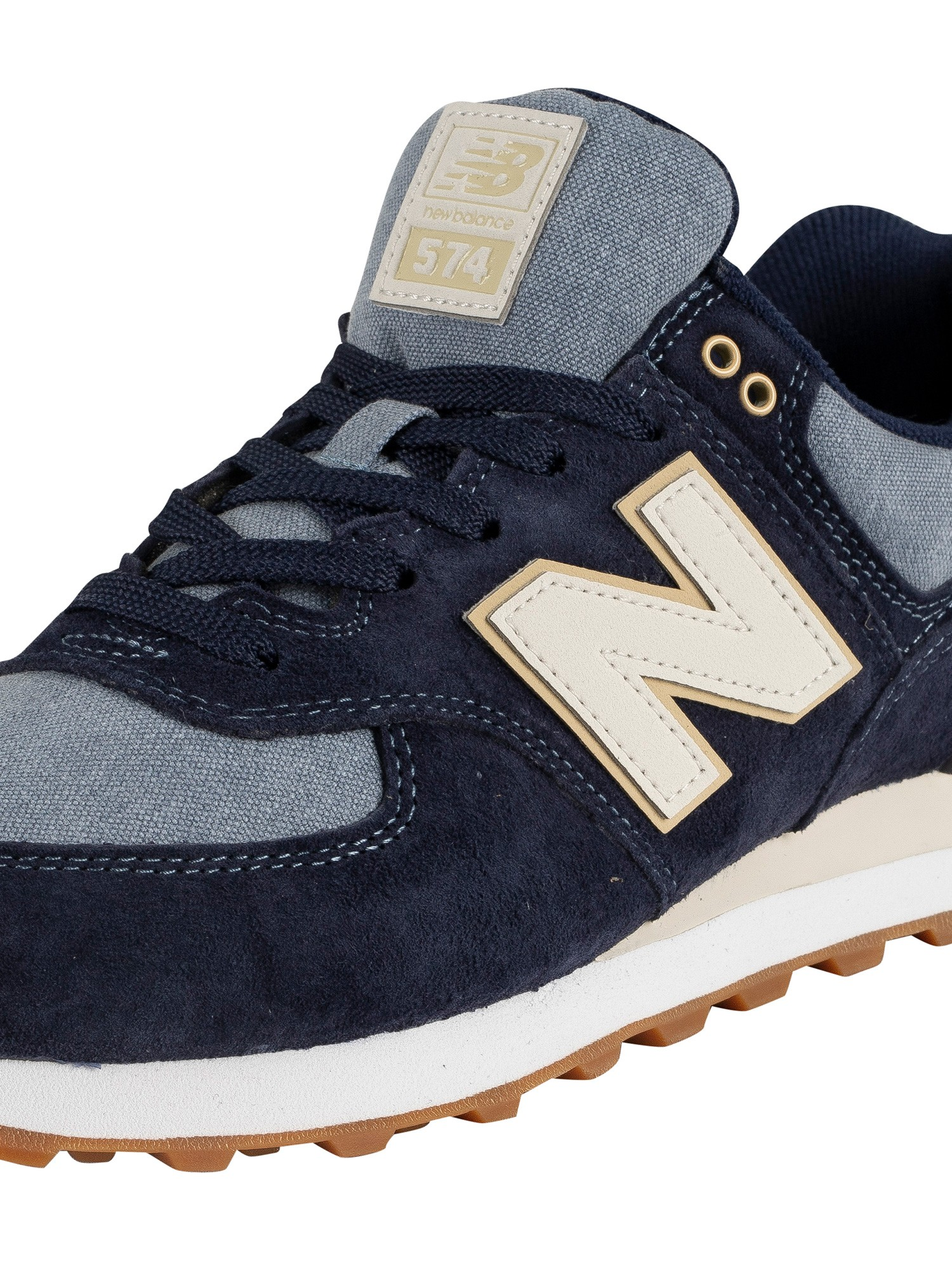 new concept fedc7 af387 New Balance 574 Suede Trainers - Navy