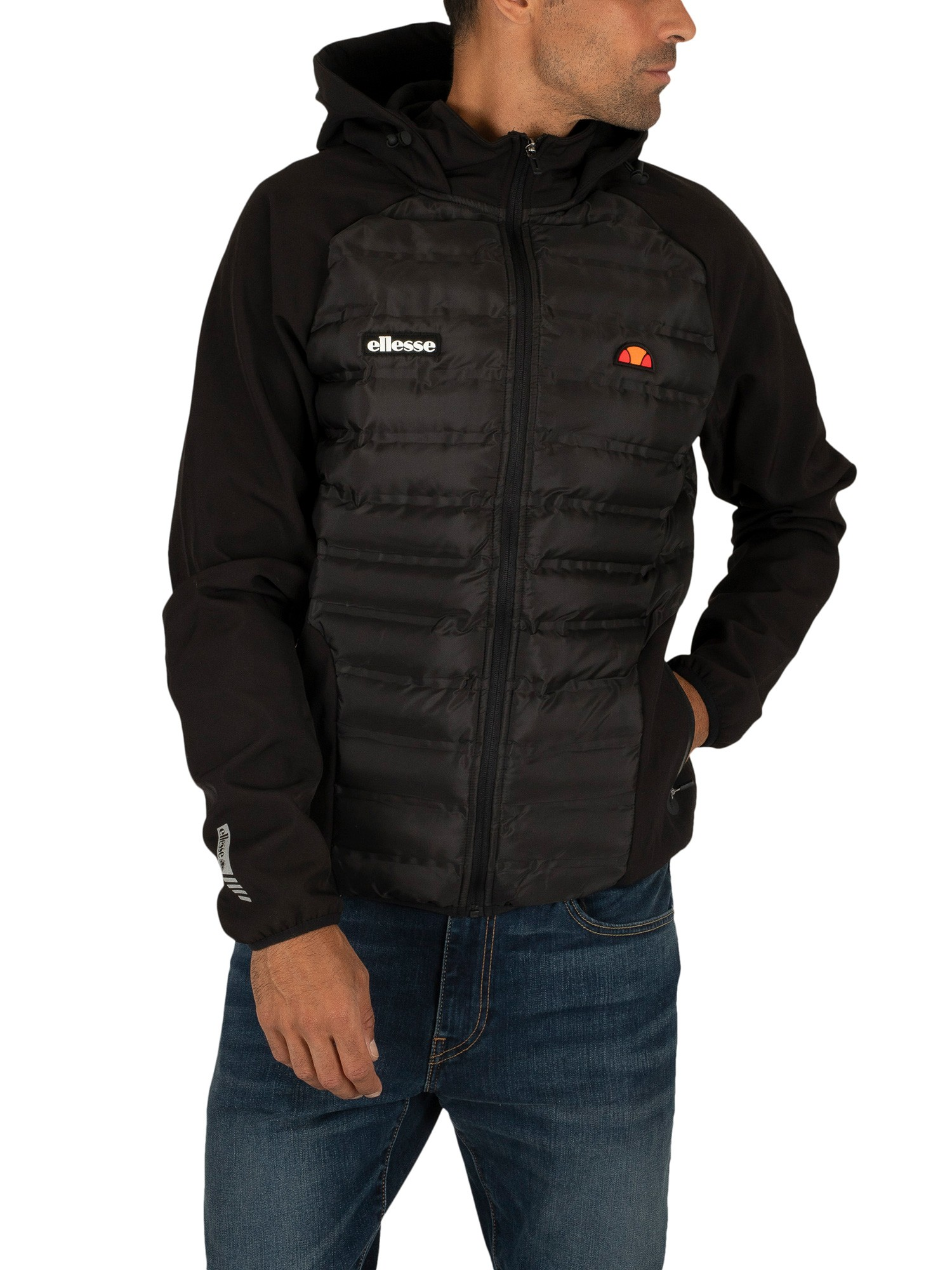 limpid in sight recognized brands buying cheap Ellesse Berici Padded Jacket - Black