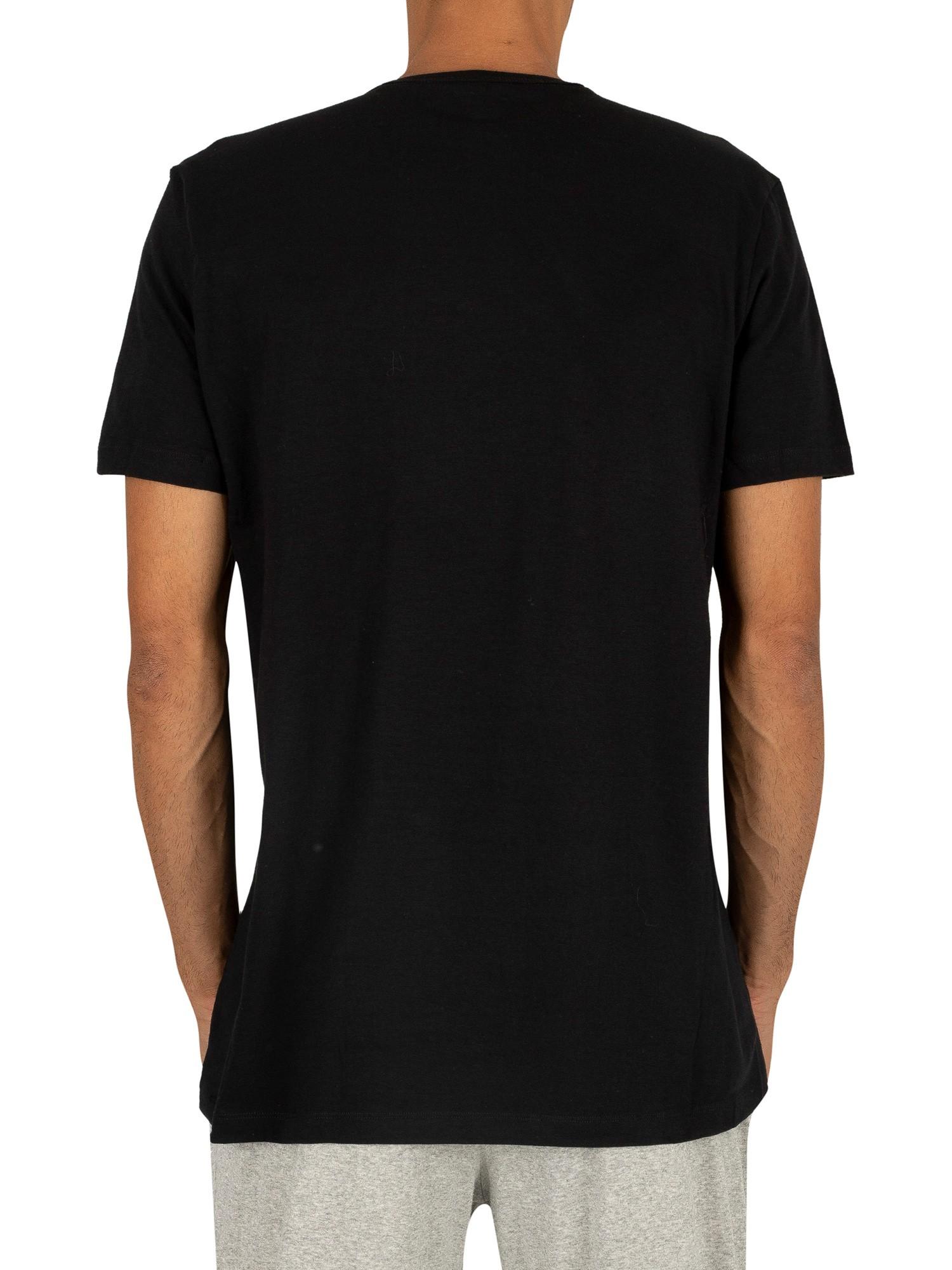 przytulnie świeże nowy design przystojny Lacoste 2 Pack Crew Lounge T-Shirt - Black