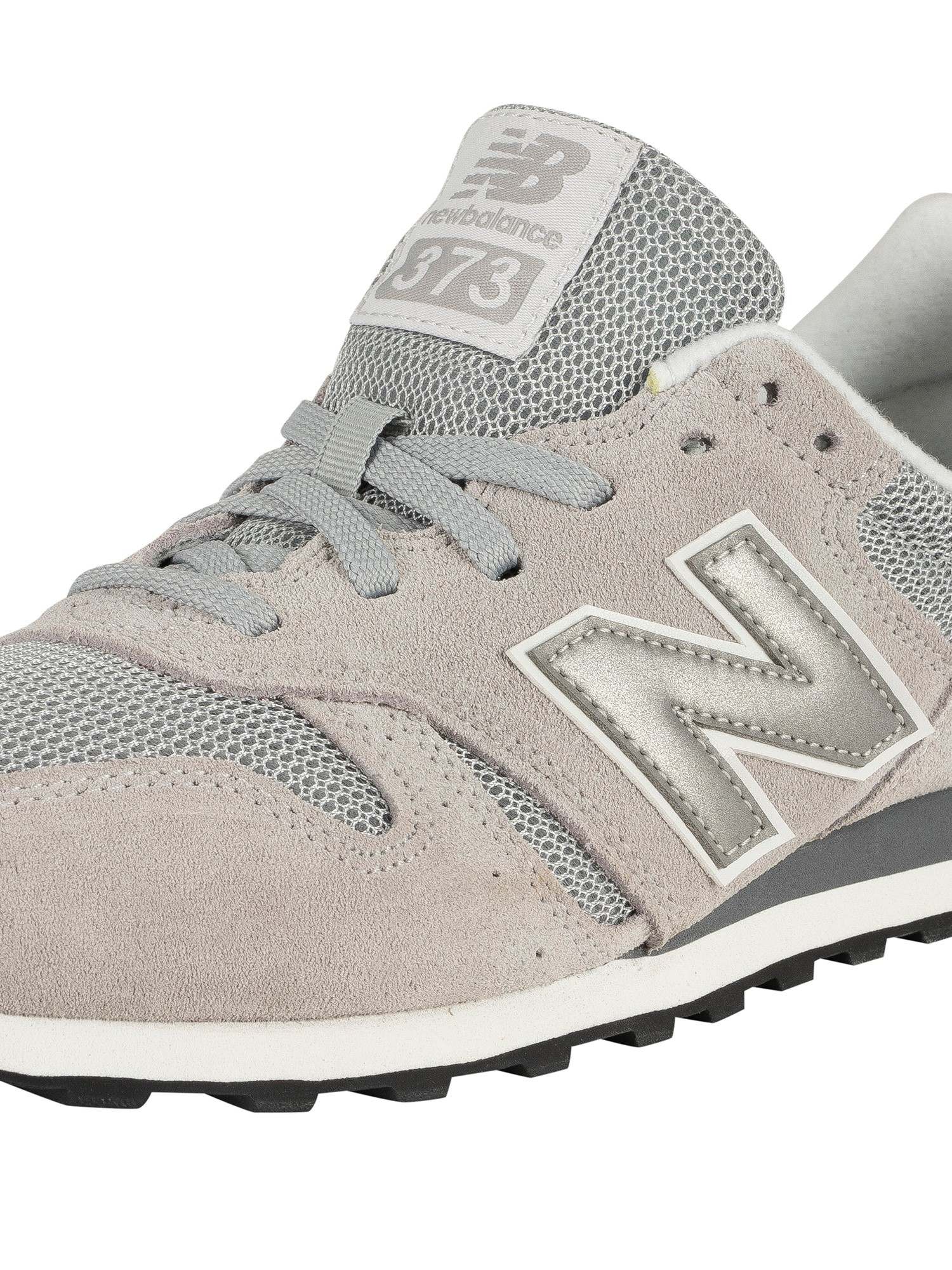best service 0a9c9 149e4 New Balance 373 Suede Trainers - Grey/Silver