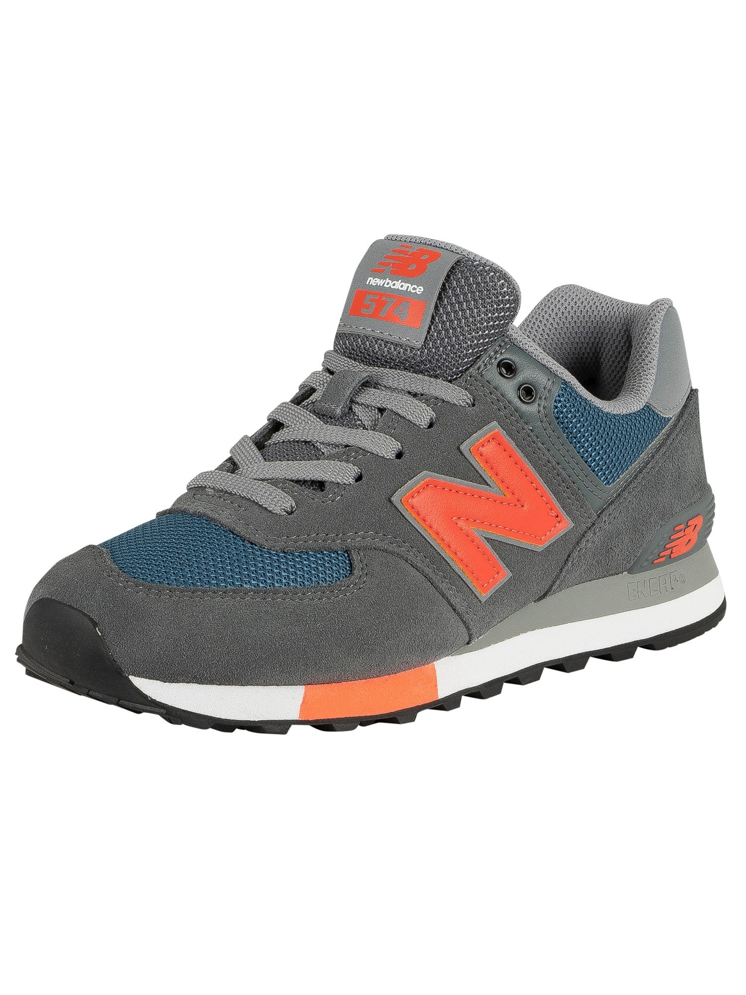 best website 260d3 c6303 New Balance 574 Suede Trainers - Grey/Blue