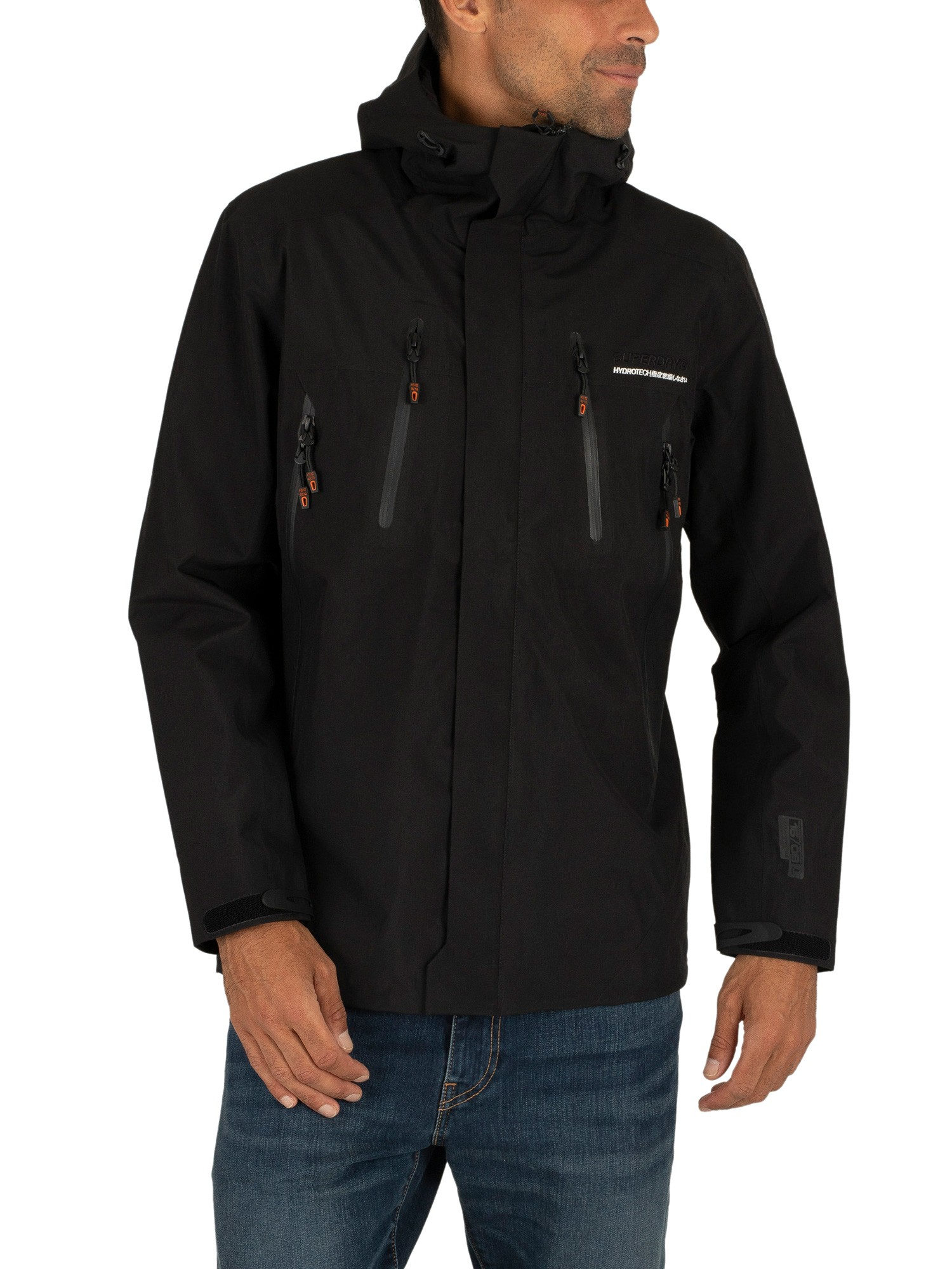 choose genuine strong packing drop shipping Superdry Hydritech Ultimate Waterproof Jacket - Black