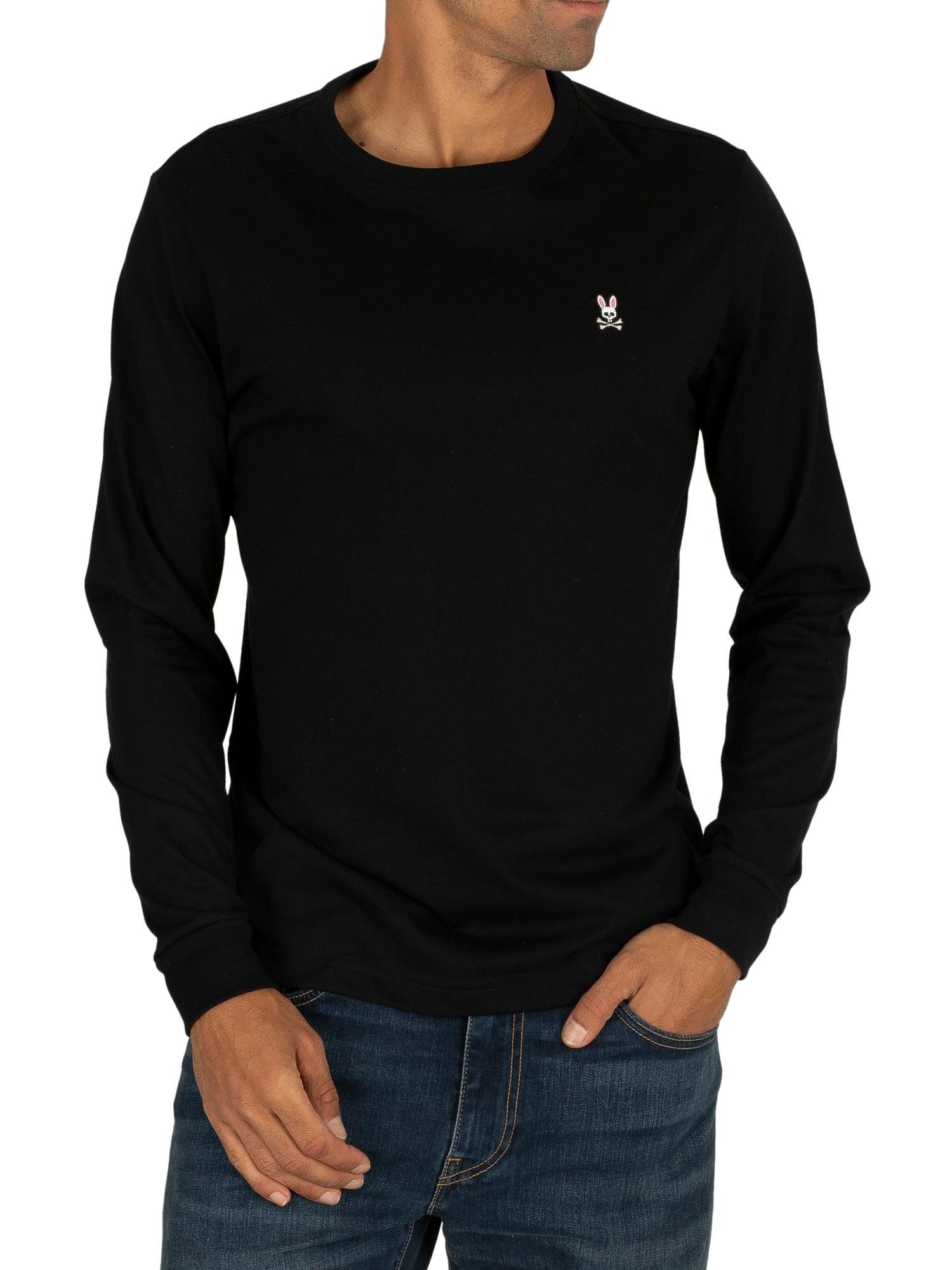 Mens Psycho Bunny Long Sleeve Crew Neck T-Shirt Grey SALE WAS £60