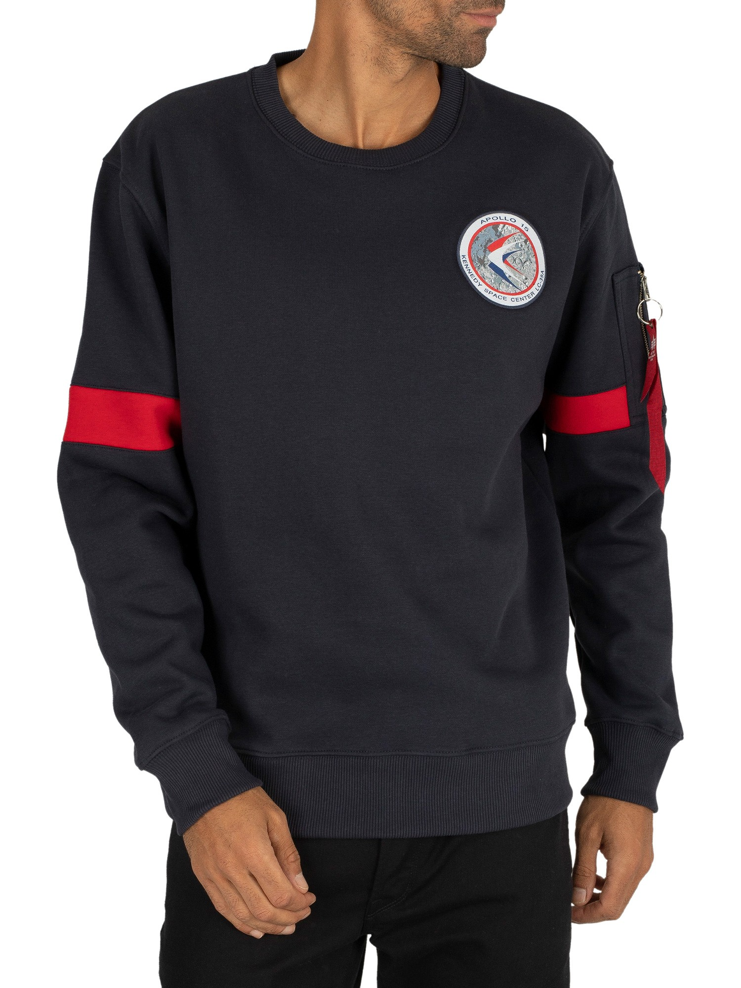 buy online f74af 128fe Alpha Industries Apollo 15 Sweatshirt - Rep Blue