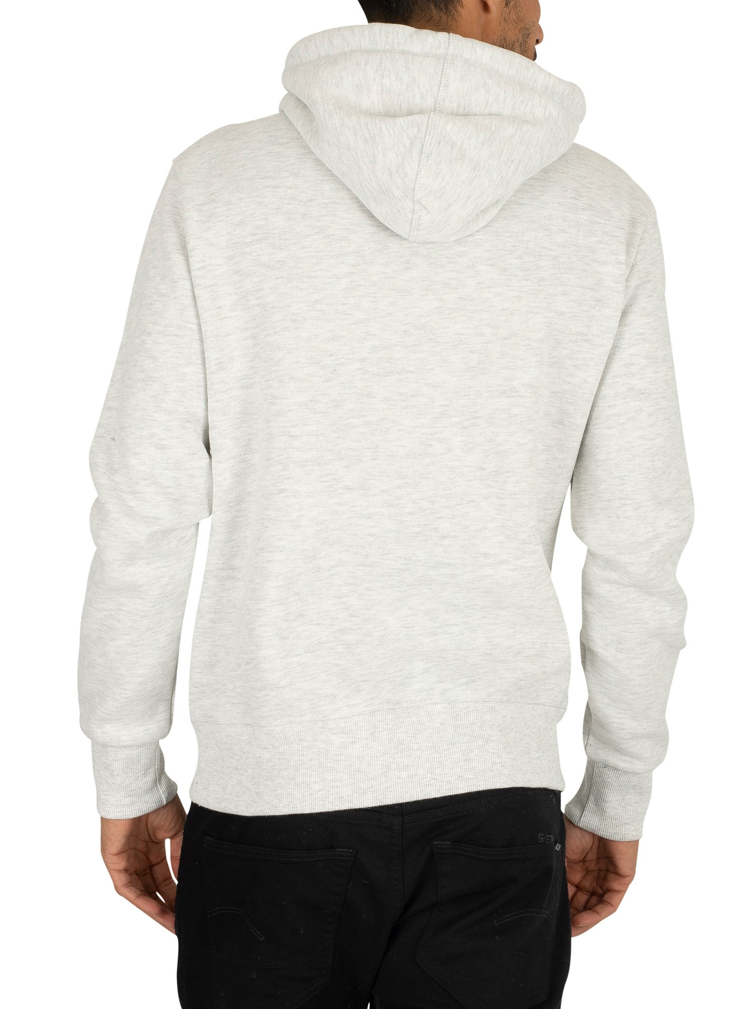 Superdry Sweat Shop Duo Pullover Hoodie - Ice Marl