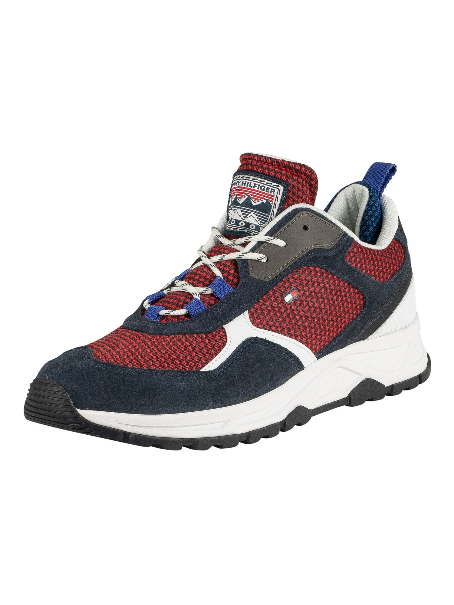 Fashion Mix Trainers, Red