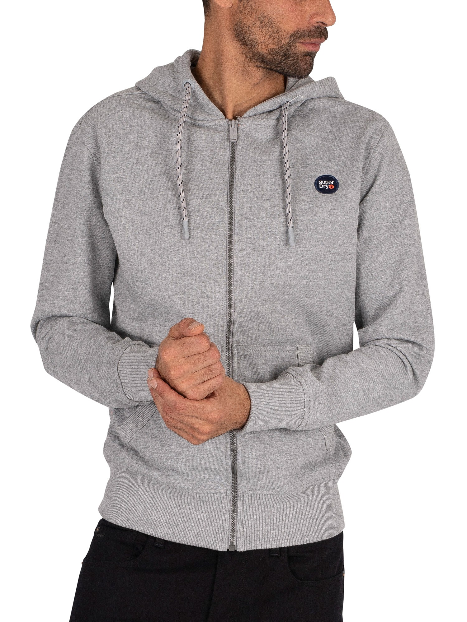 Superdry Collective Zip Hoodie - Grey Marl