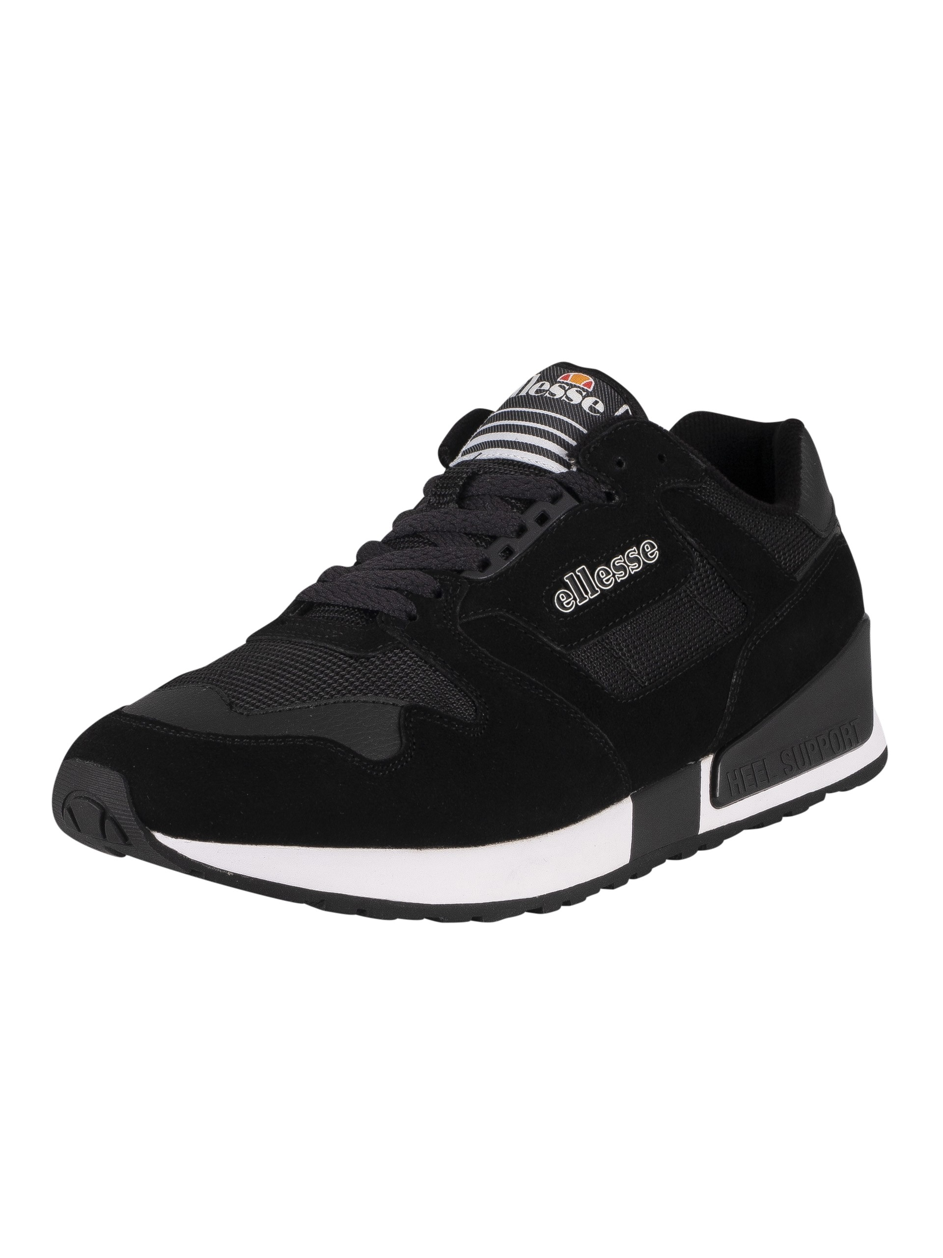 Ellesse 147 Suede Trainers - Black/White