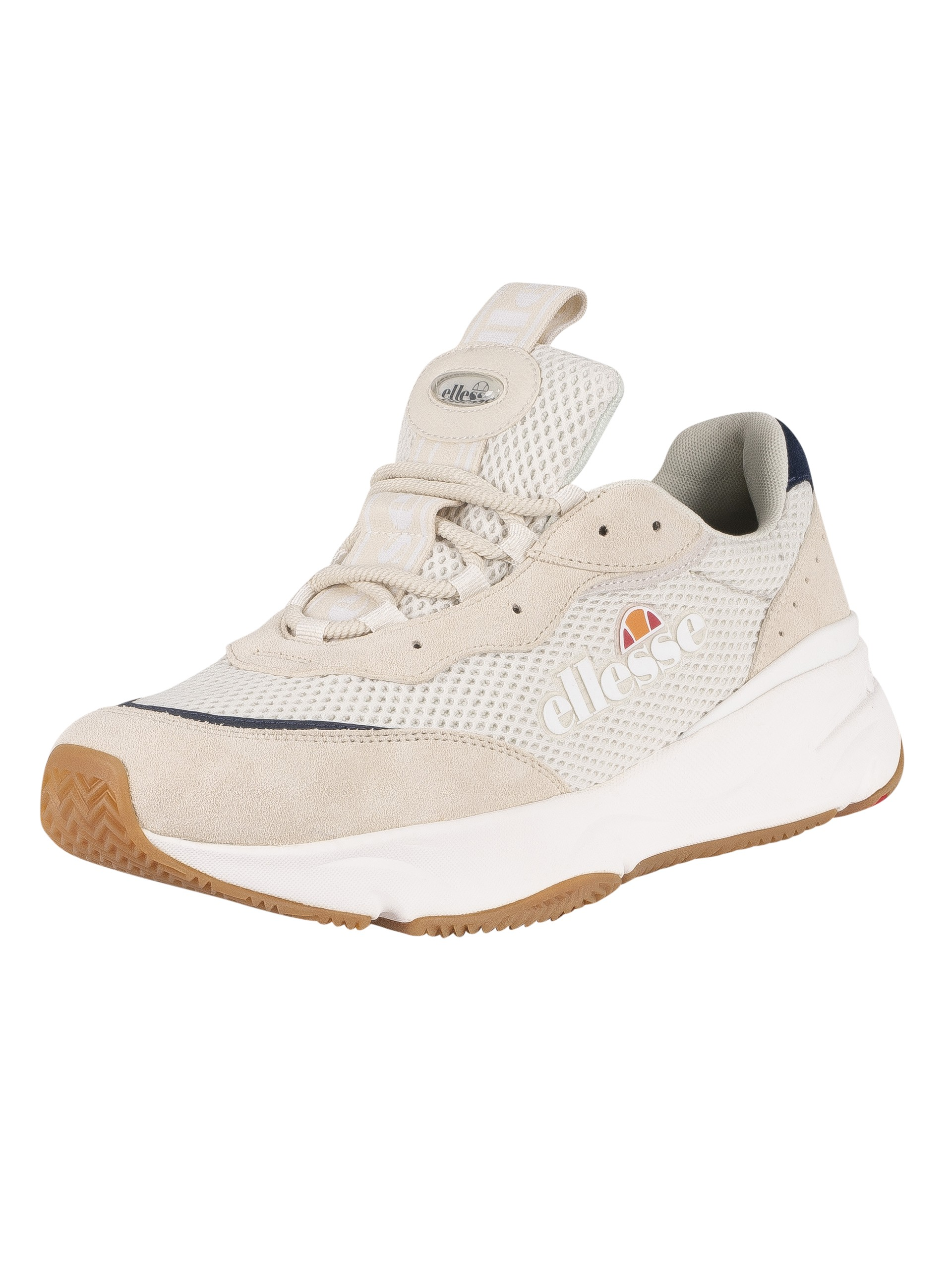 Ellesse Massello Text Trainers - Off White/Dark Blue