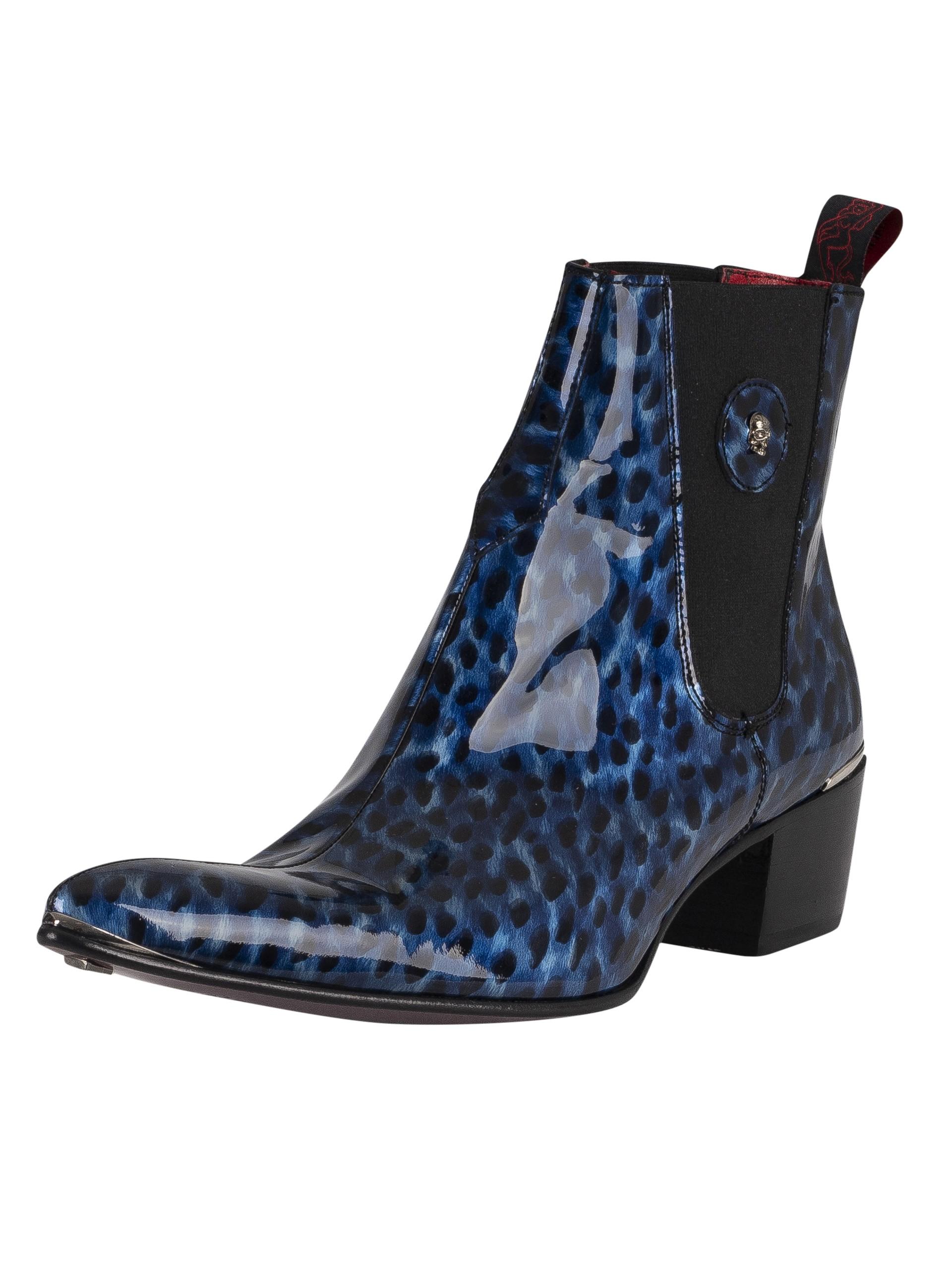Jeffery West Men/'s Leather Shoes Blue
