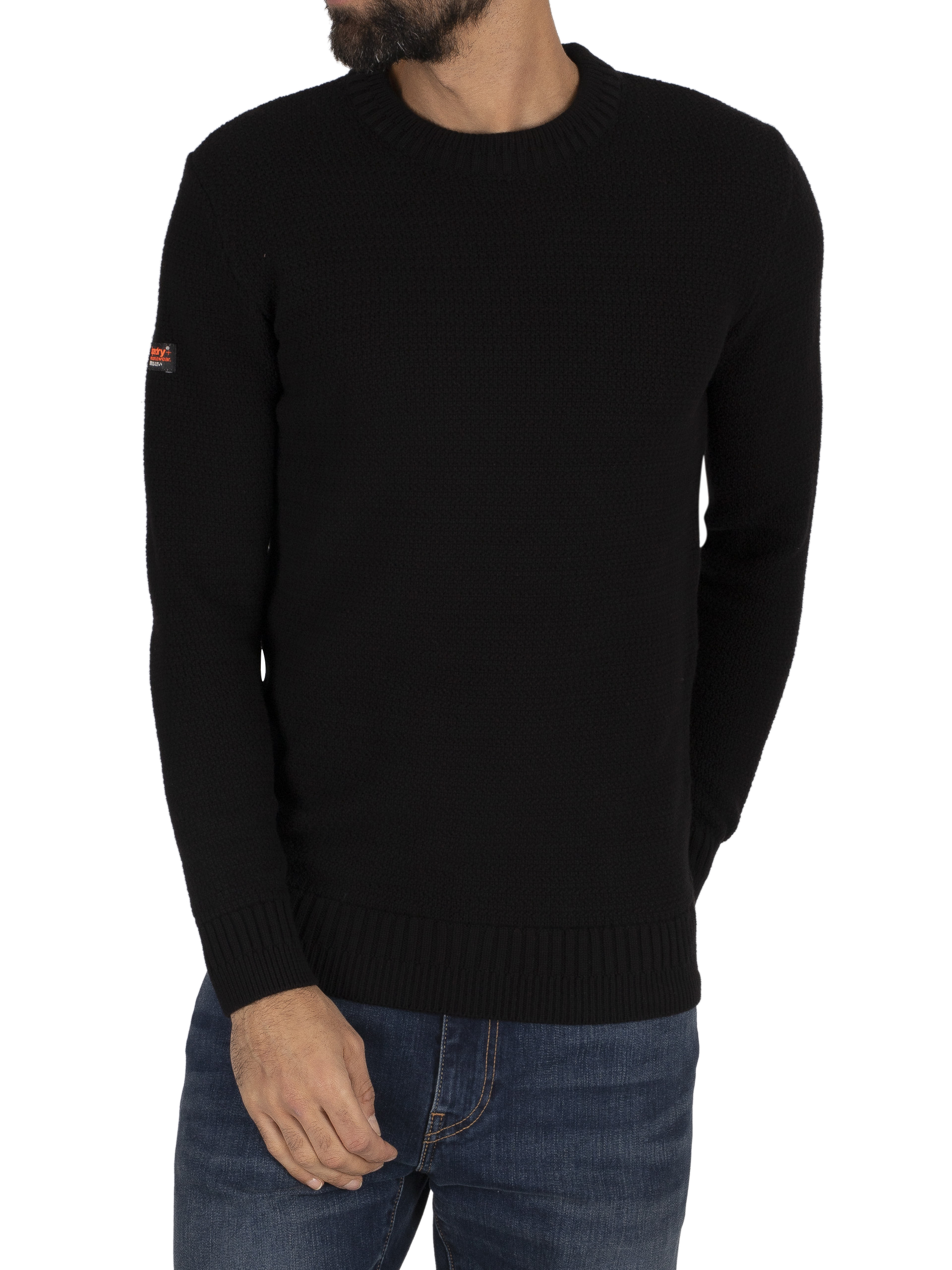 Superdry Keystone Crew Knit - Black