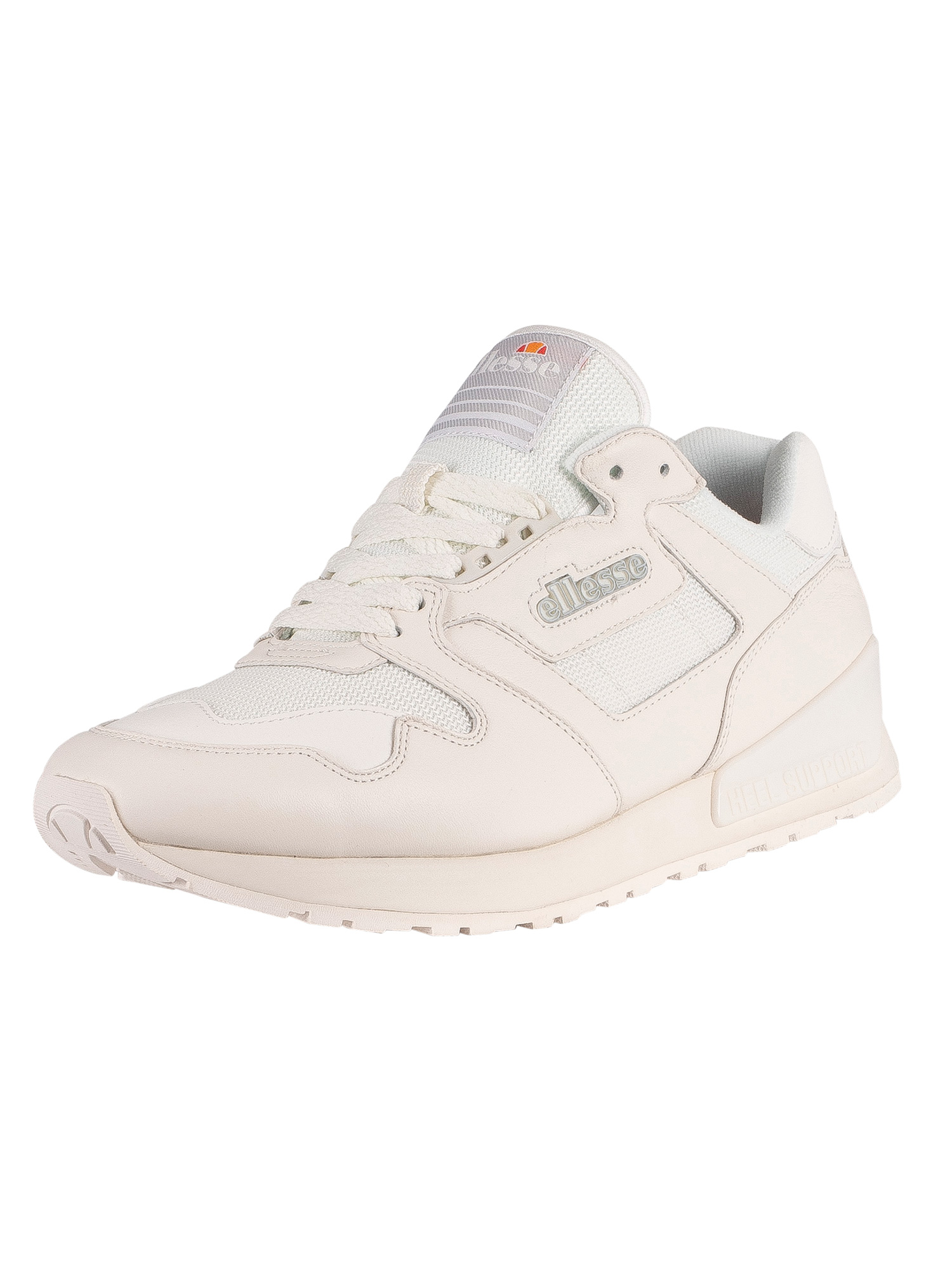 Ellesse 147 Leather Trainers - White/White