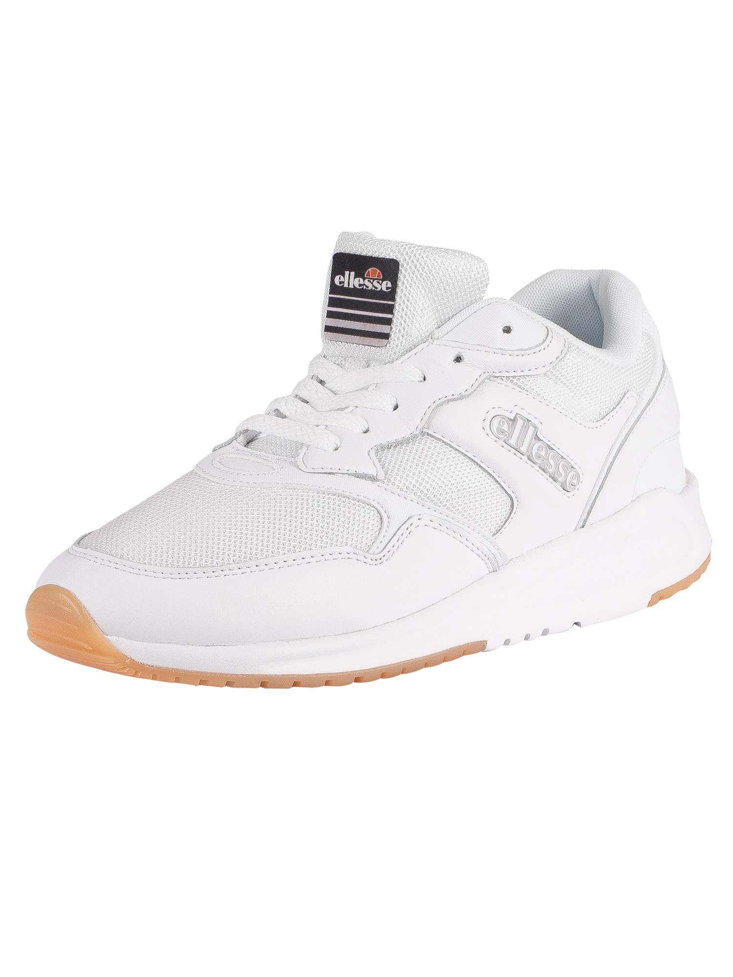 Ellesse NYC84 Leather Trainers - White/White