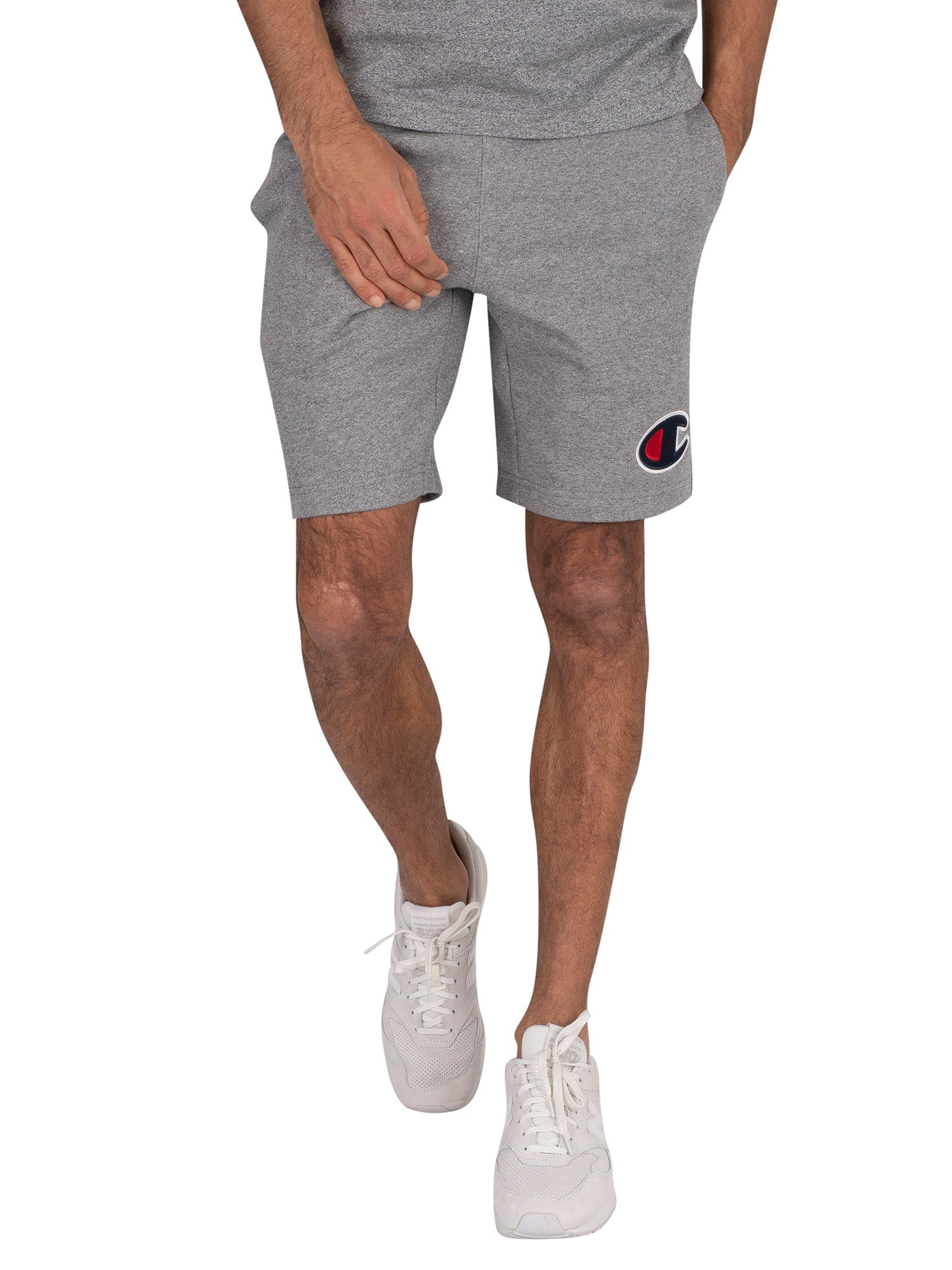 Fleece Shorts Champion Men/'s Powerblend C Logo Pockets Black Navy Grey 10 Inseam