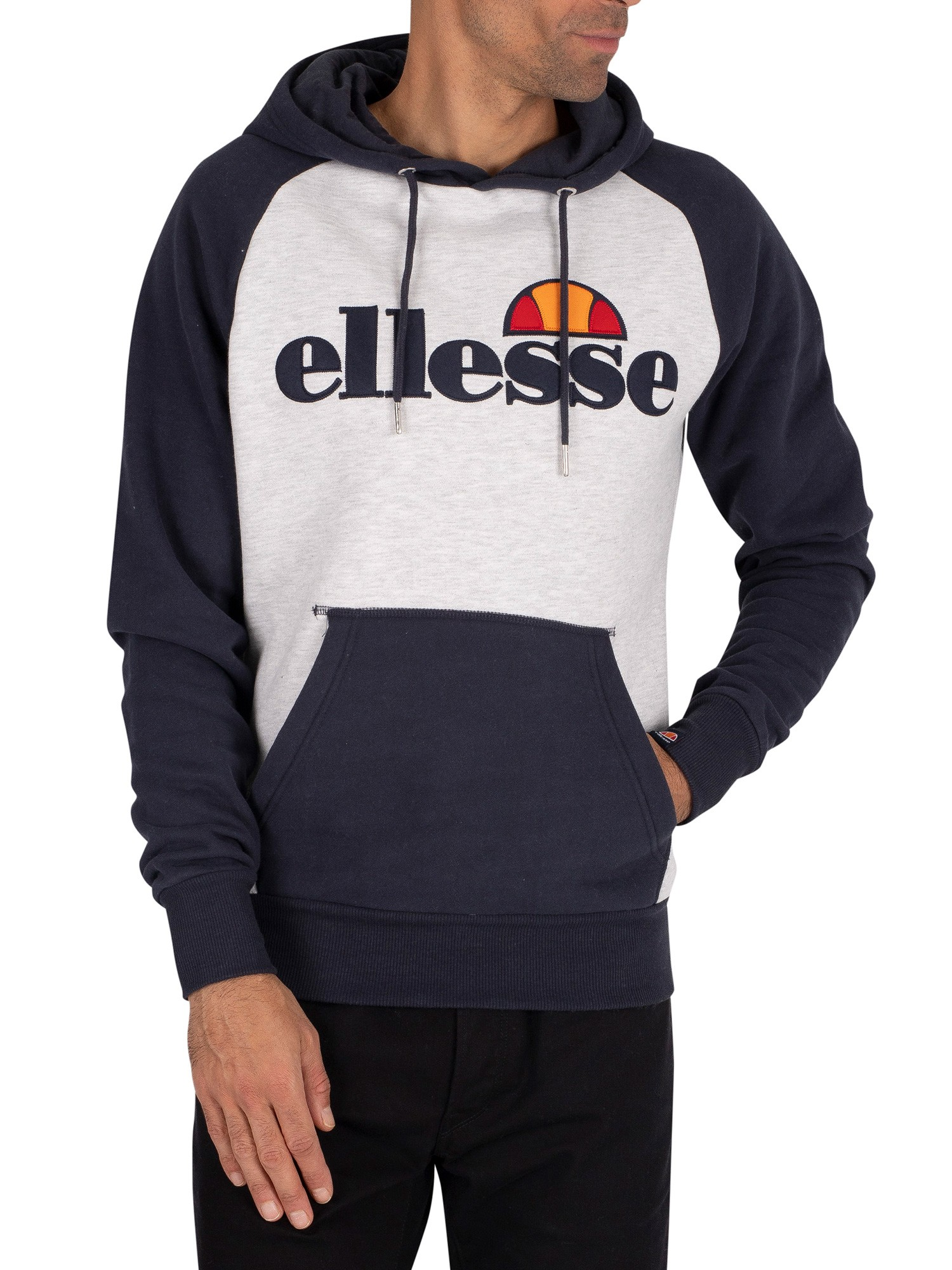 Ellesse Taliamento Pullover Hoodie - White Marl