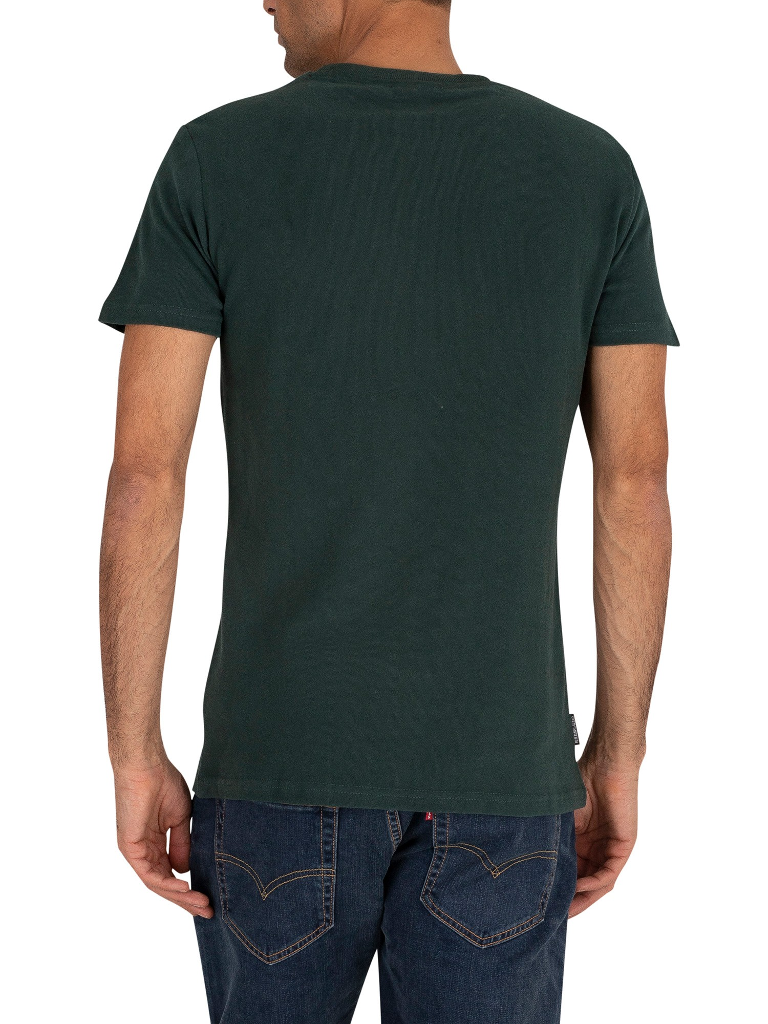 Superdry Core Logo Stripe T-Shirt - Academy Green