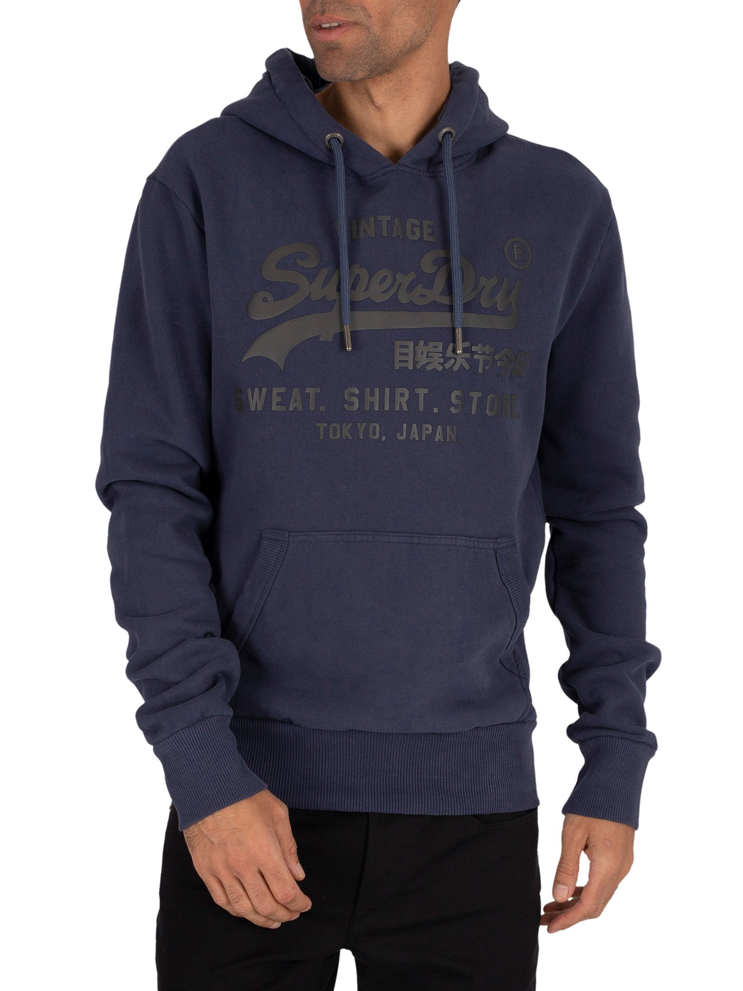 Superdry Shirt Shop Bonded Pullover Hoodie - Lauren Navy