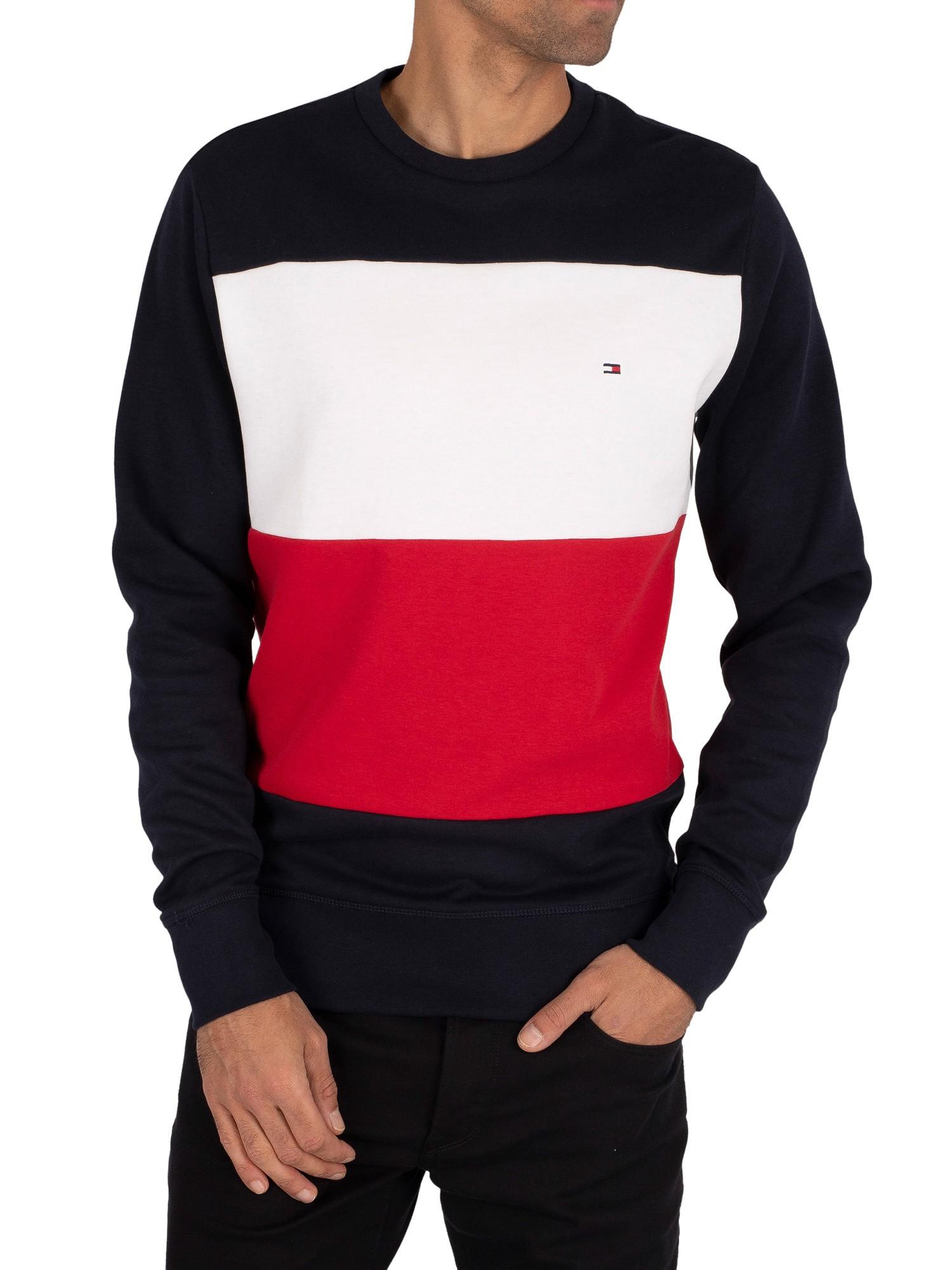Multicoloured Tommy Hilfiger Men/'s Colourblock Sweatshirt