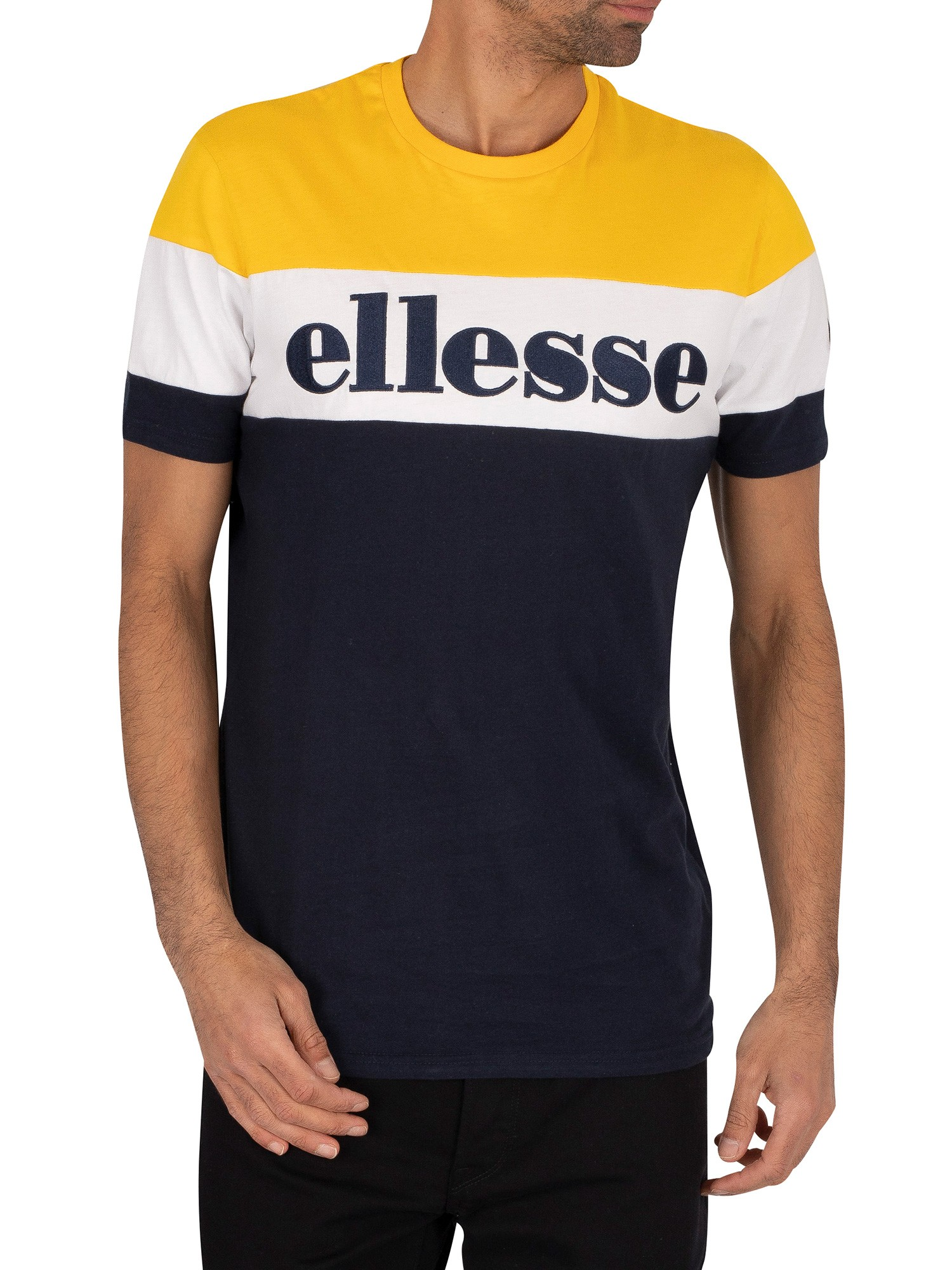Ellesse Punto T-Shirt - Navy/Yellow