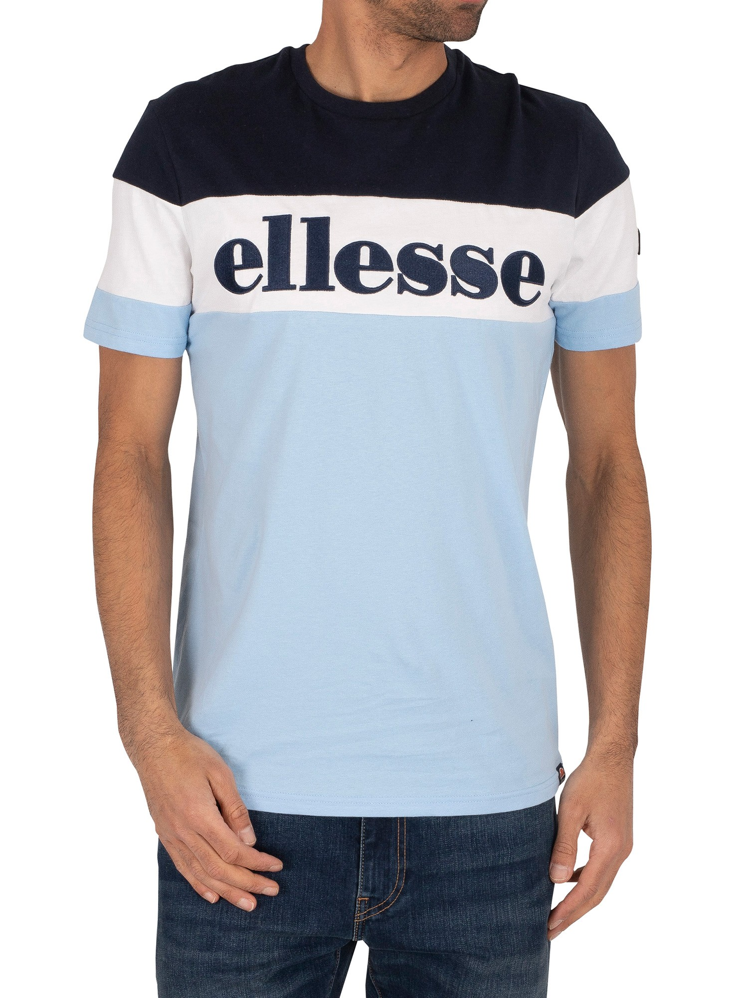 Ellesse Punto T-Shirt - Light Blue/Navy
