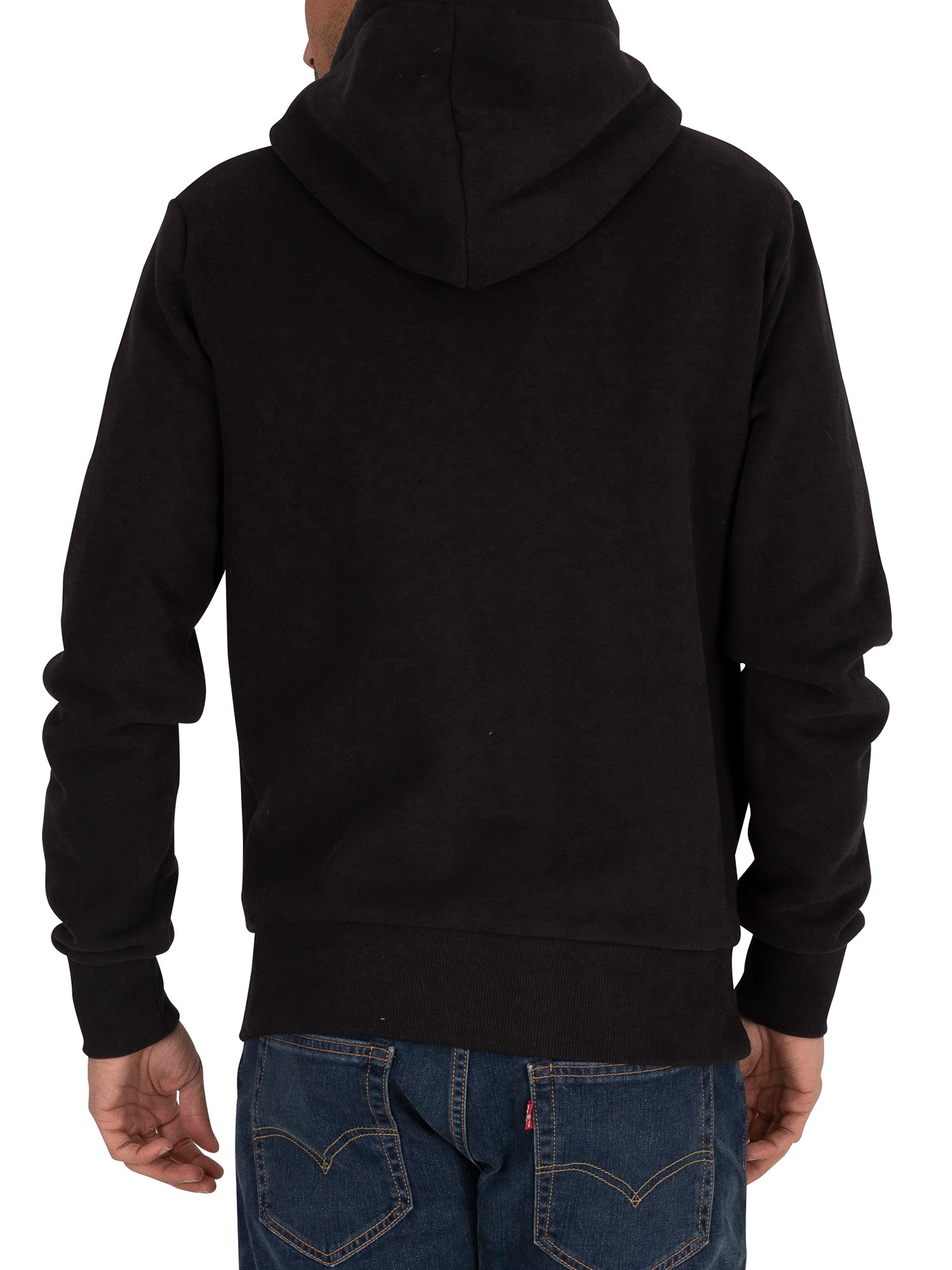 Superdry Core Logo Tag Pullover Hoodie - Black