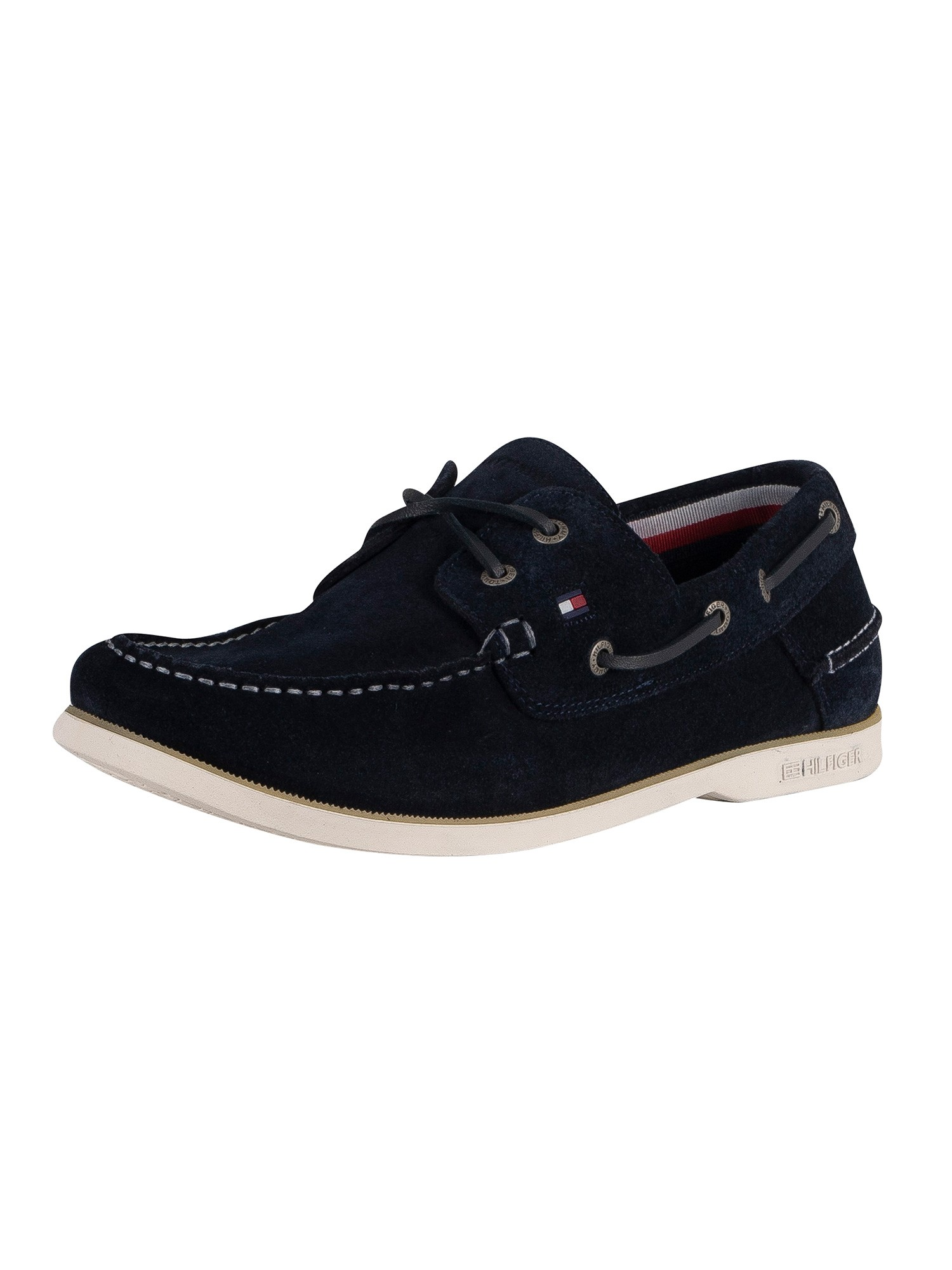 Tommy Hilfiger Classic Suede Boat Shoes - Desert Sky
