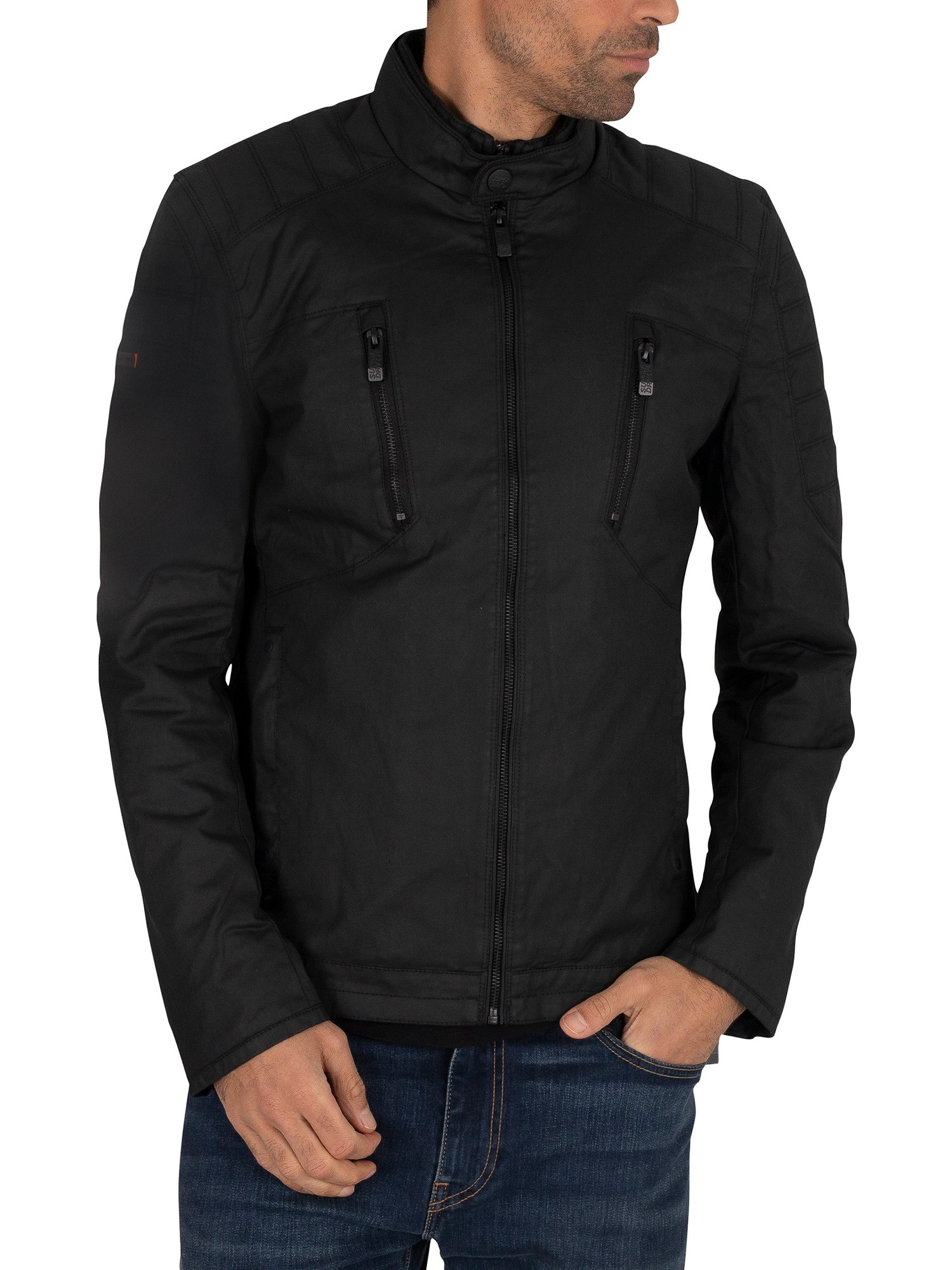 Superdry Carbon Biker Jacket - Black