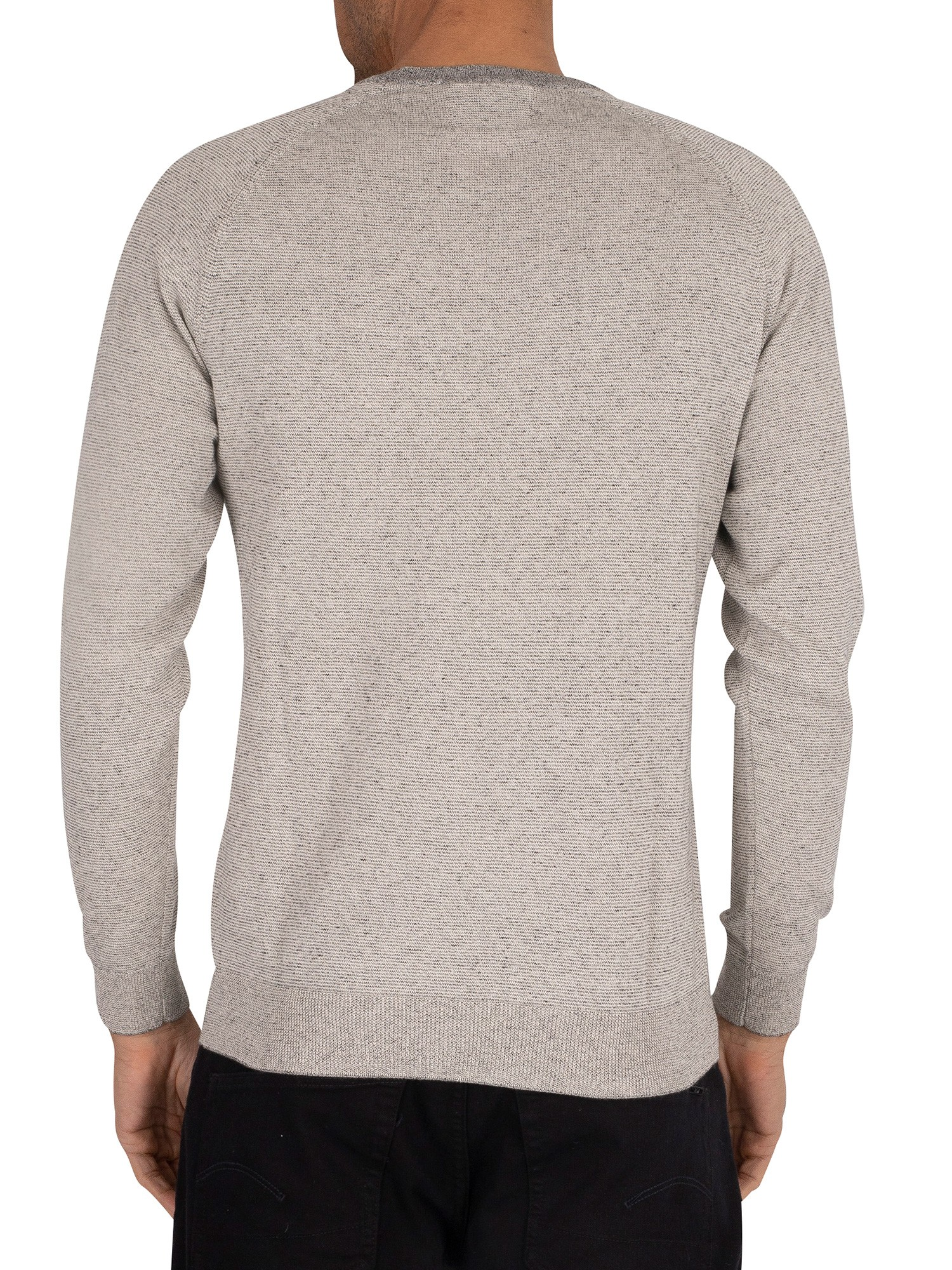 Superdry Orange Label Cotton Knit - Shale Feeder