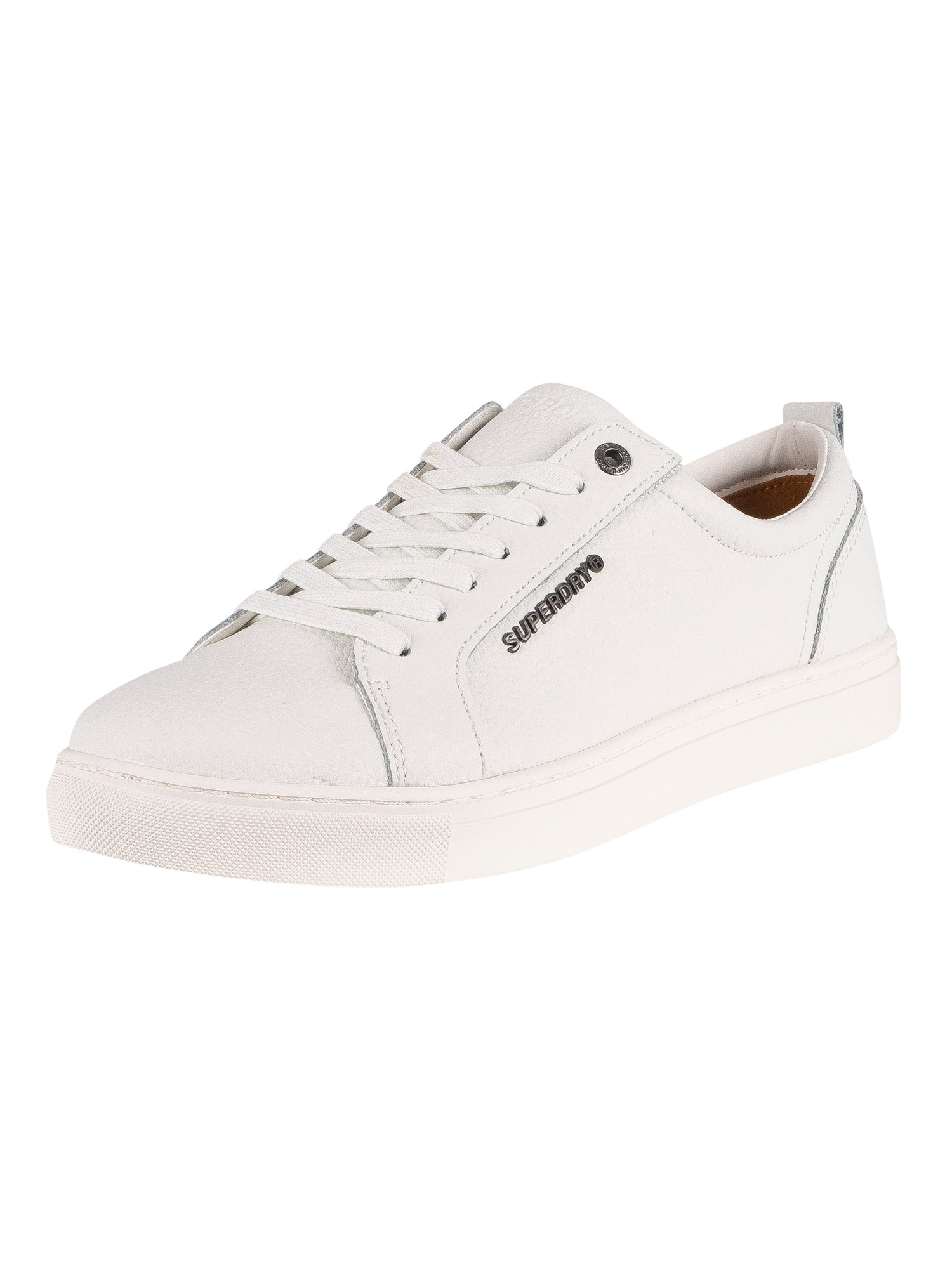 Superdry Truman Leather Trainers - White