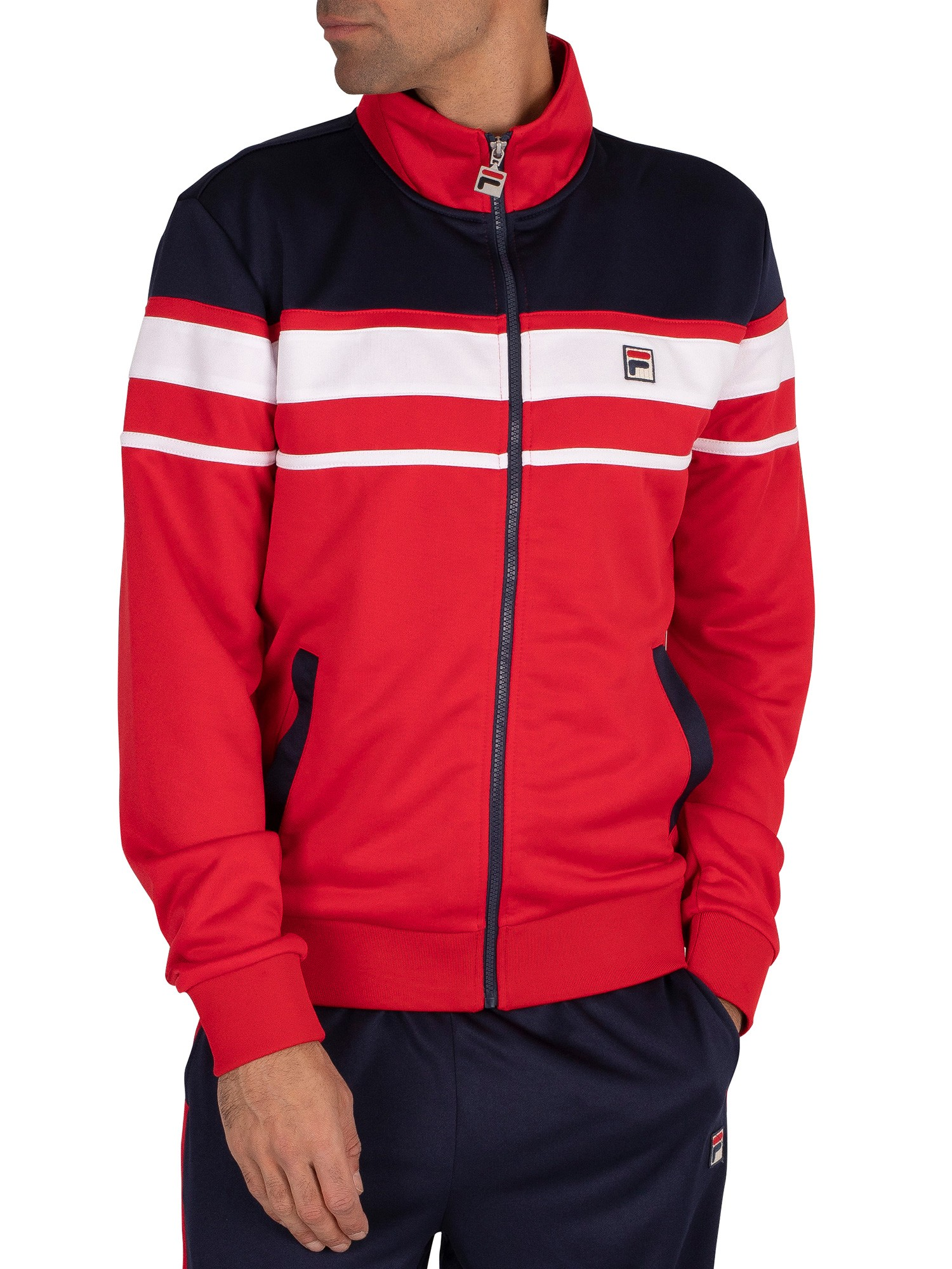 Fila Gordon Colour Block Track Jacket - Red/Peacoat/White