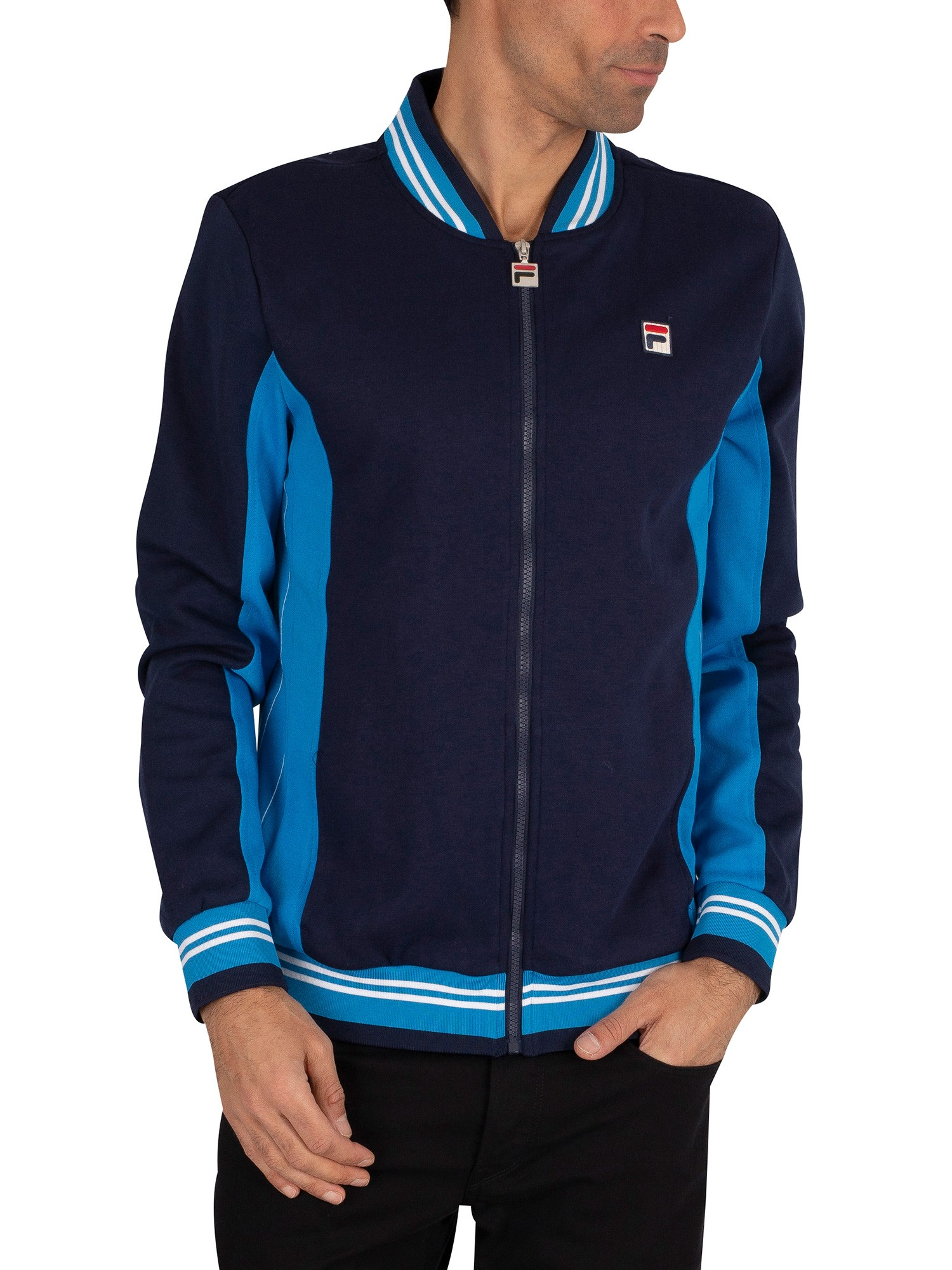 Fila Settanta Baseball Track Jacket - Peacoat/Blue Aster/White