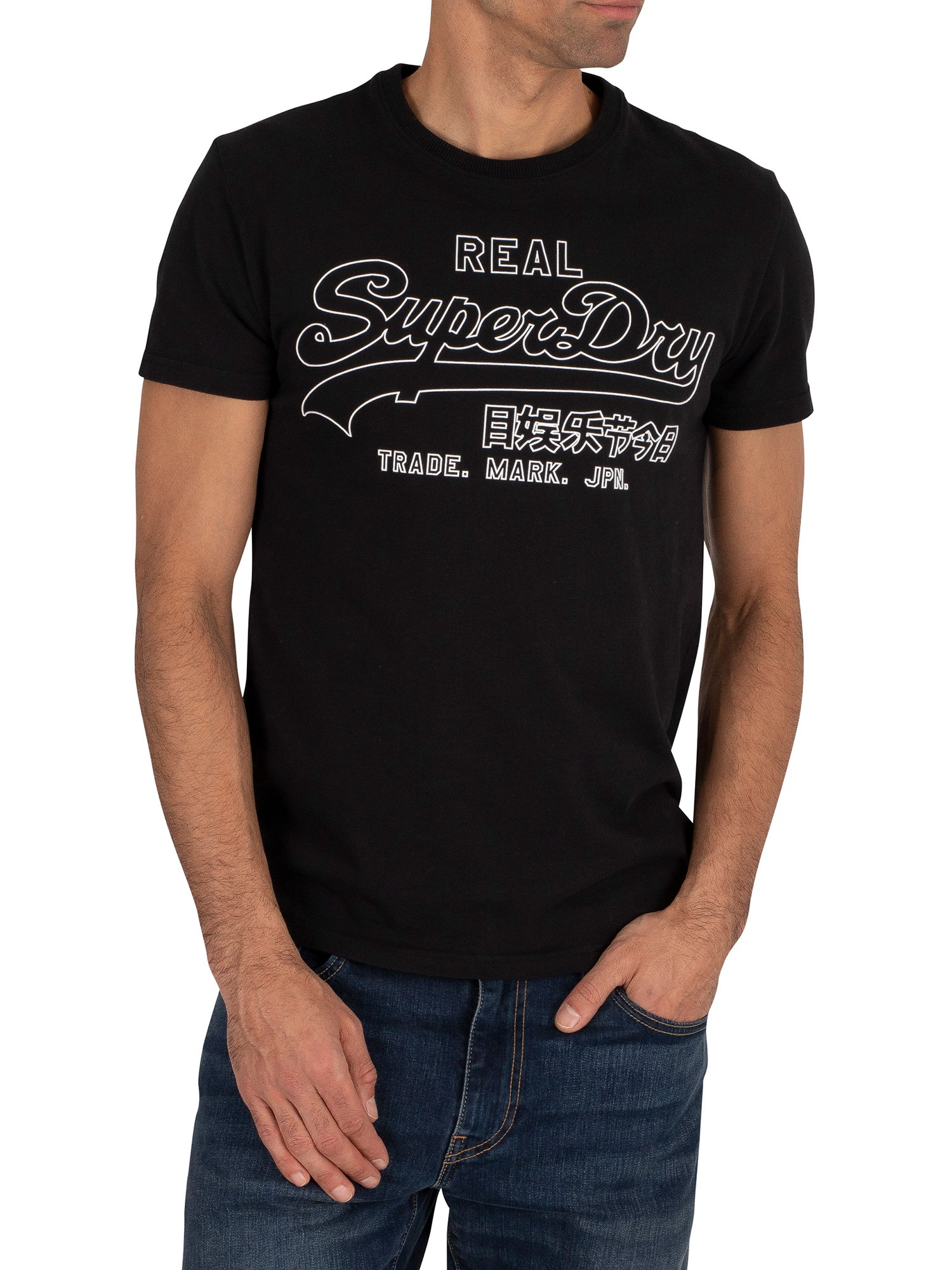 Superdry Outline Pop T-Shirt - Black