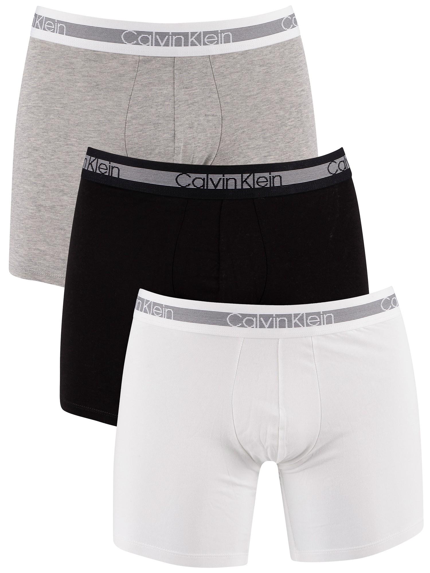 Black//White//Grey GANT 3 Pack Stretch Cotton Trunks