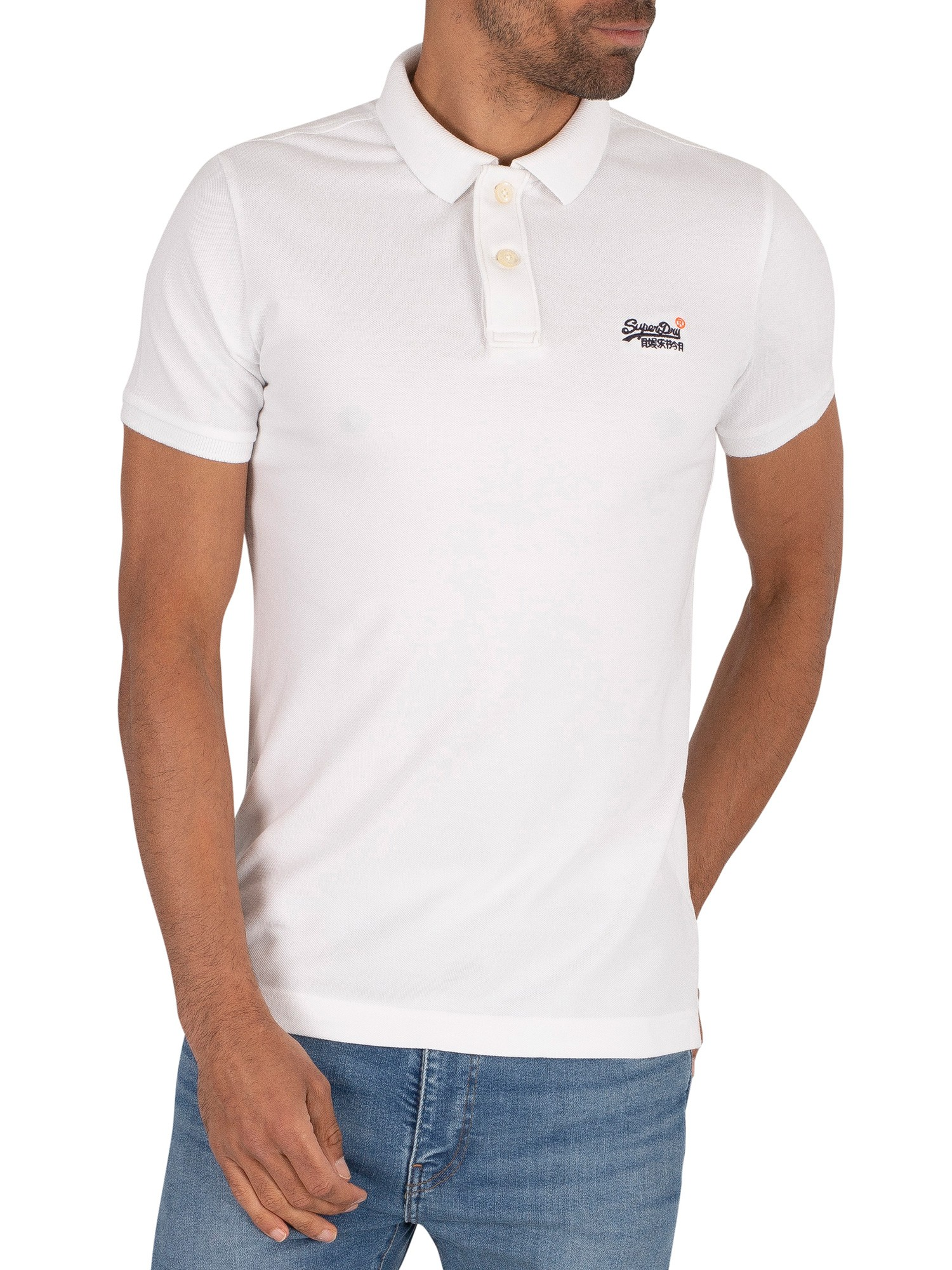 Superdry Classic Pique Polo Shirt - Optic