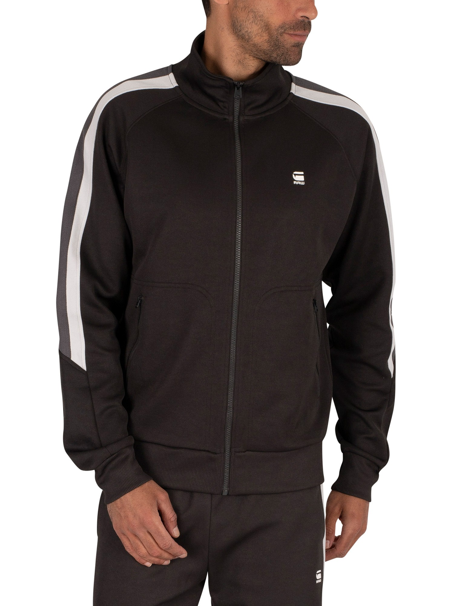 G-Star Side Stripe Track Top - Raven