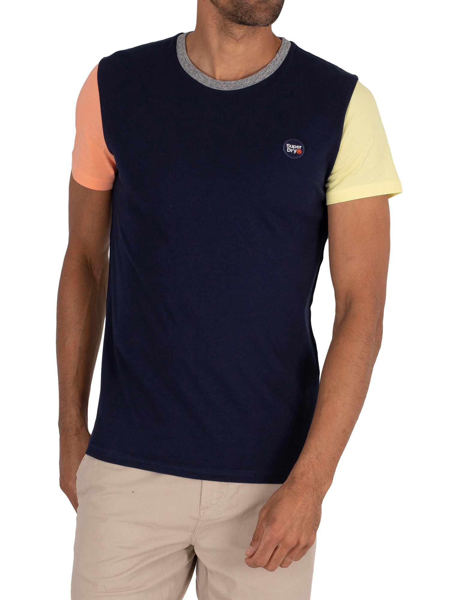 Superdry Collective Baseball T-Shirt - Rich Navy