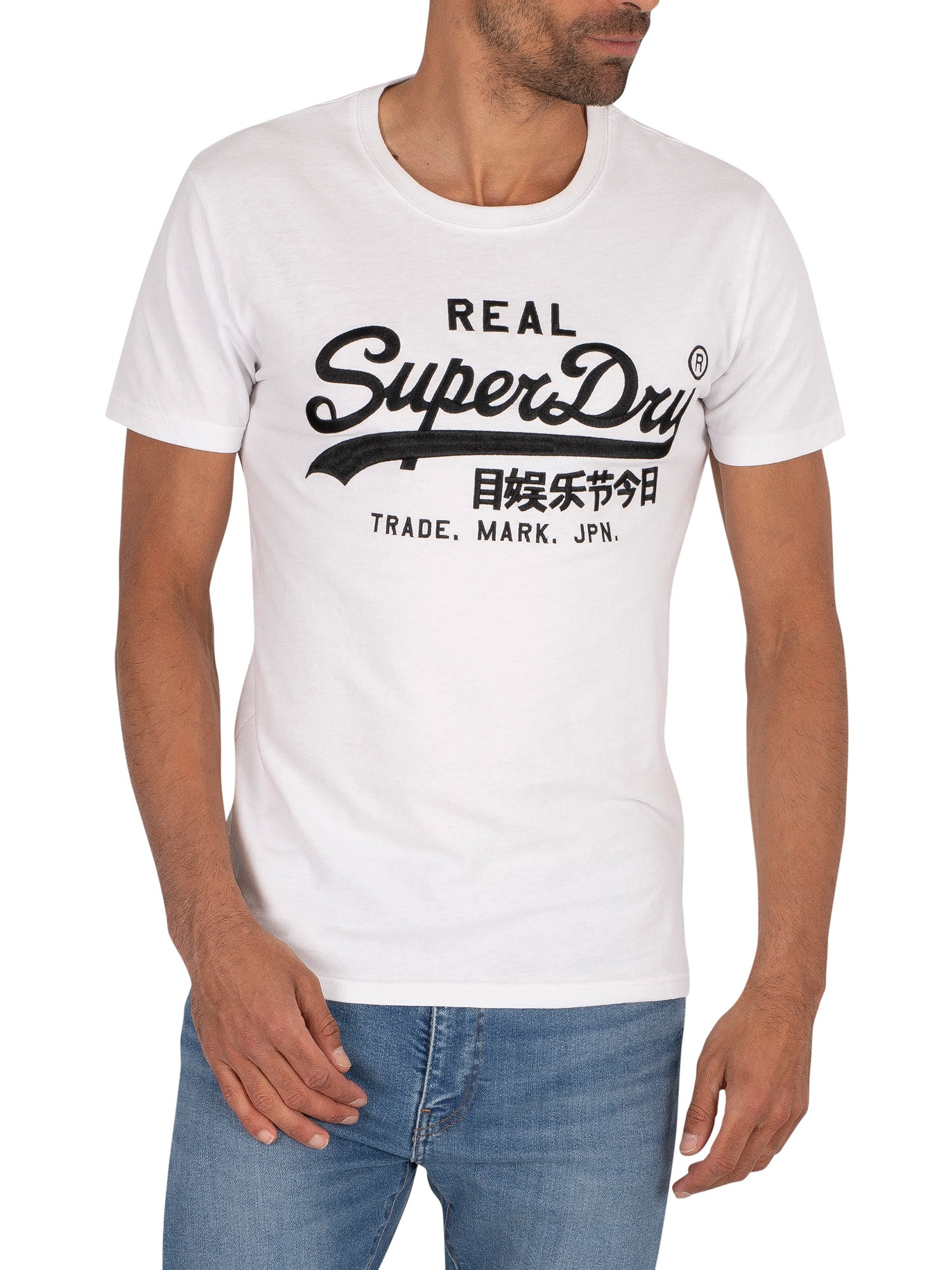 Superdry Mono EMB T-Shirt - Optic
