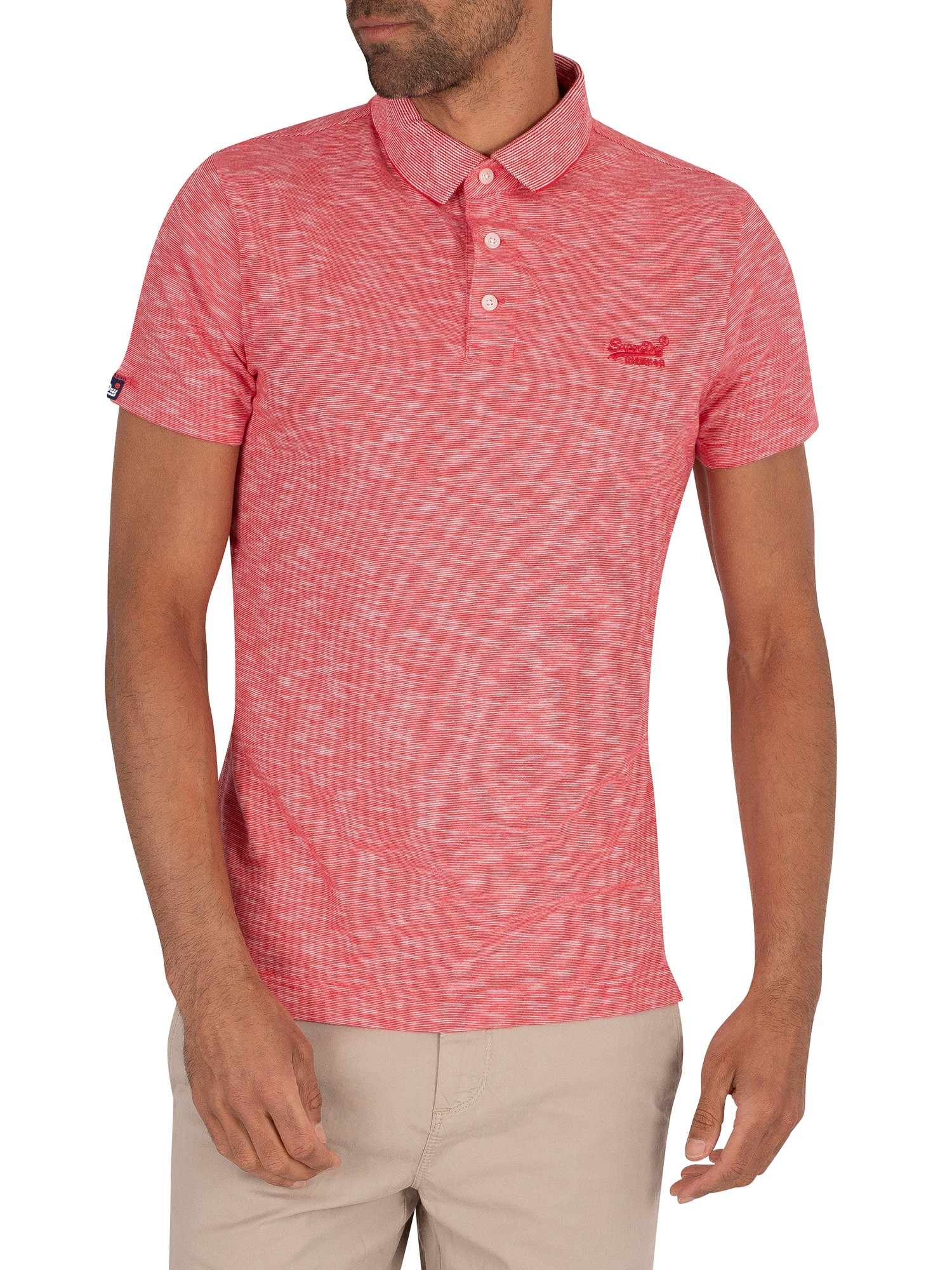 Superdry Orange Label Jersey Polo Shirt - Grenadine Feeder