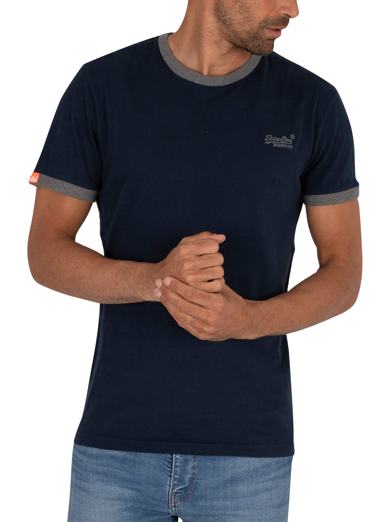 Superdry Ringer T-Shirt - Rich Navy