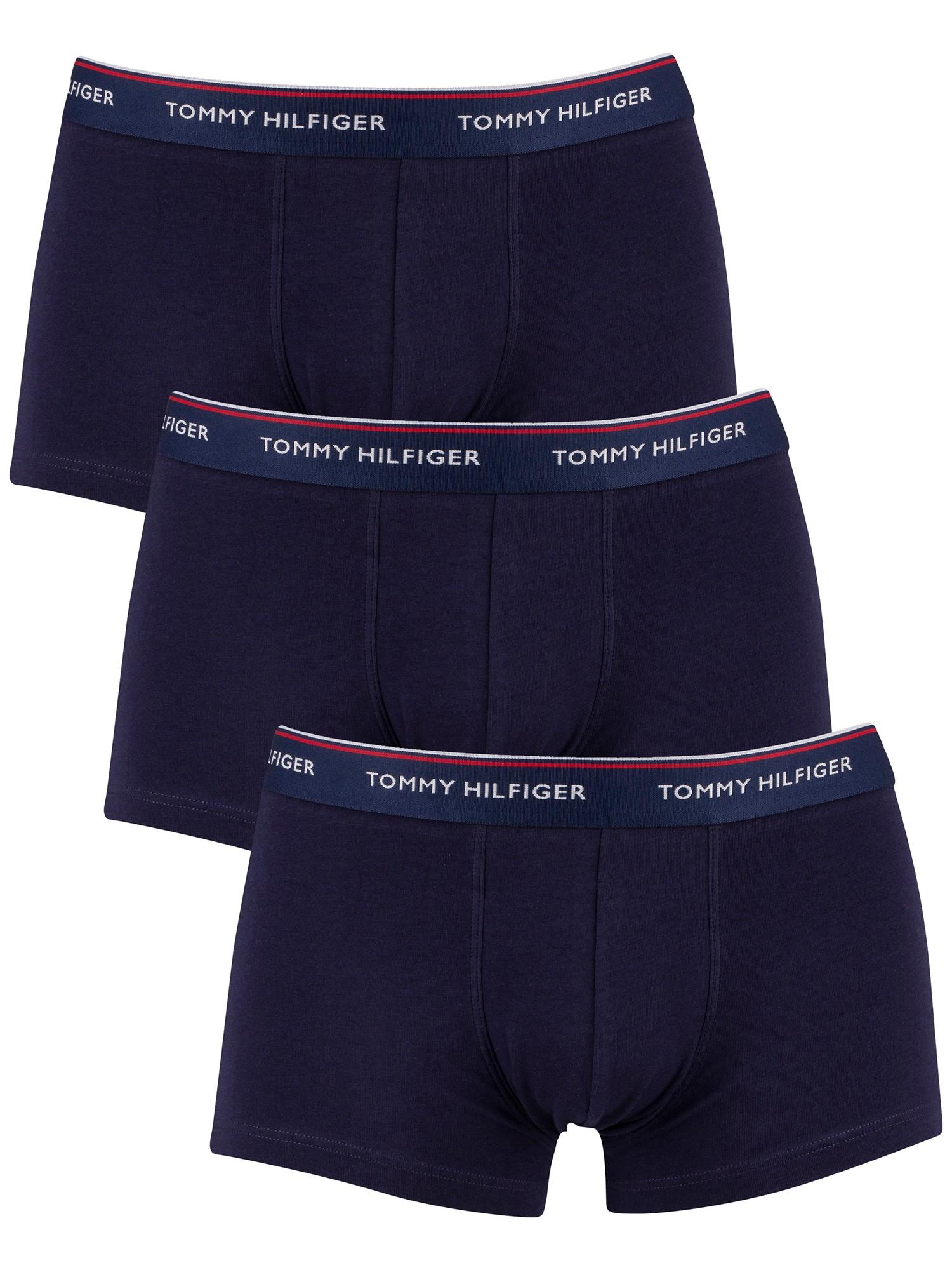 Tommy Hilfiger Men/'s 3 Pack Premium Essentials Trunks Blue