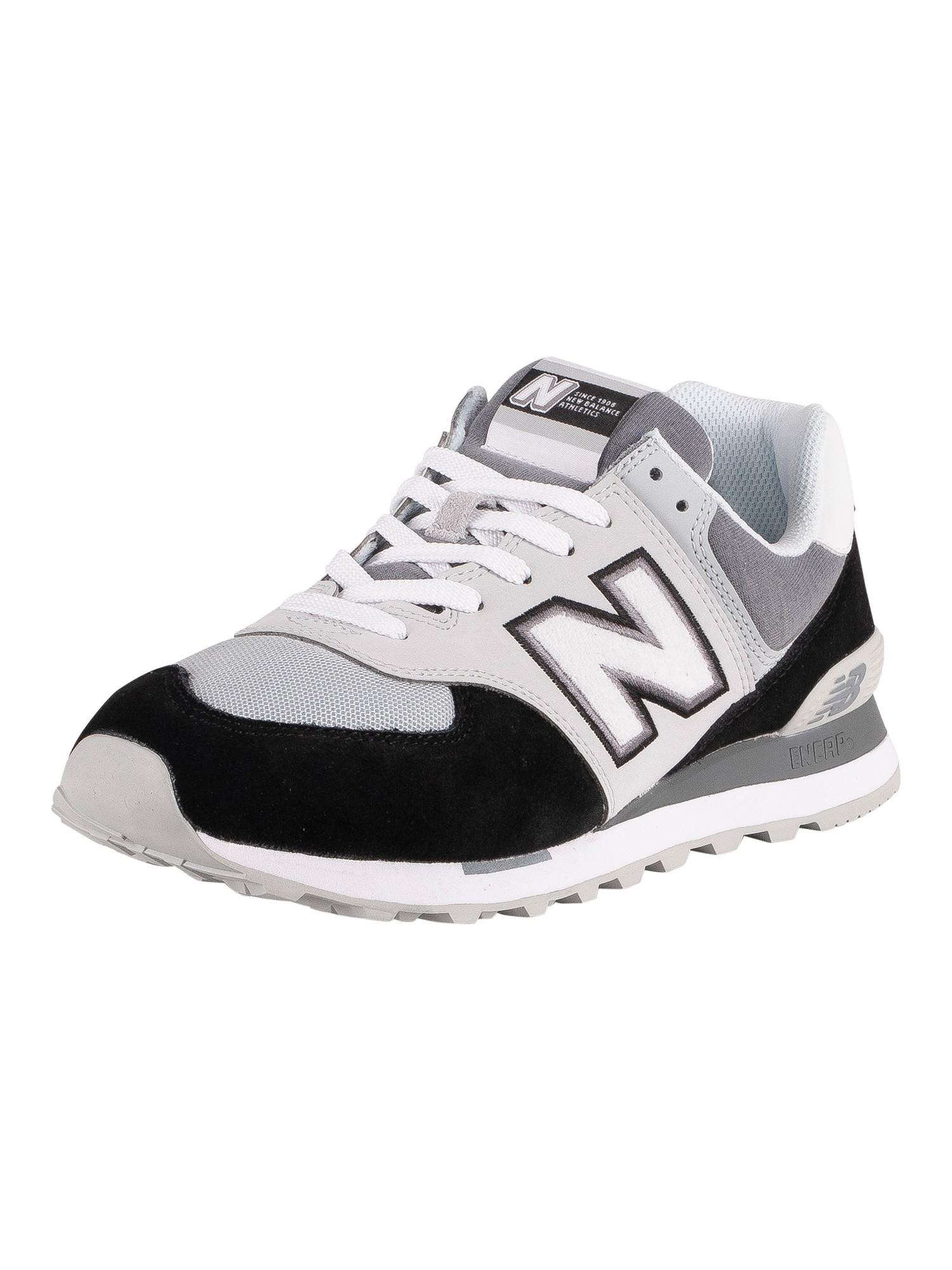 new balance 574 nero uomo