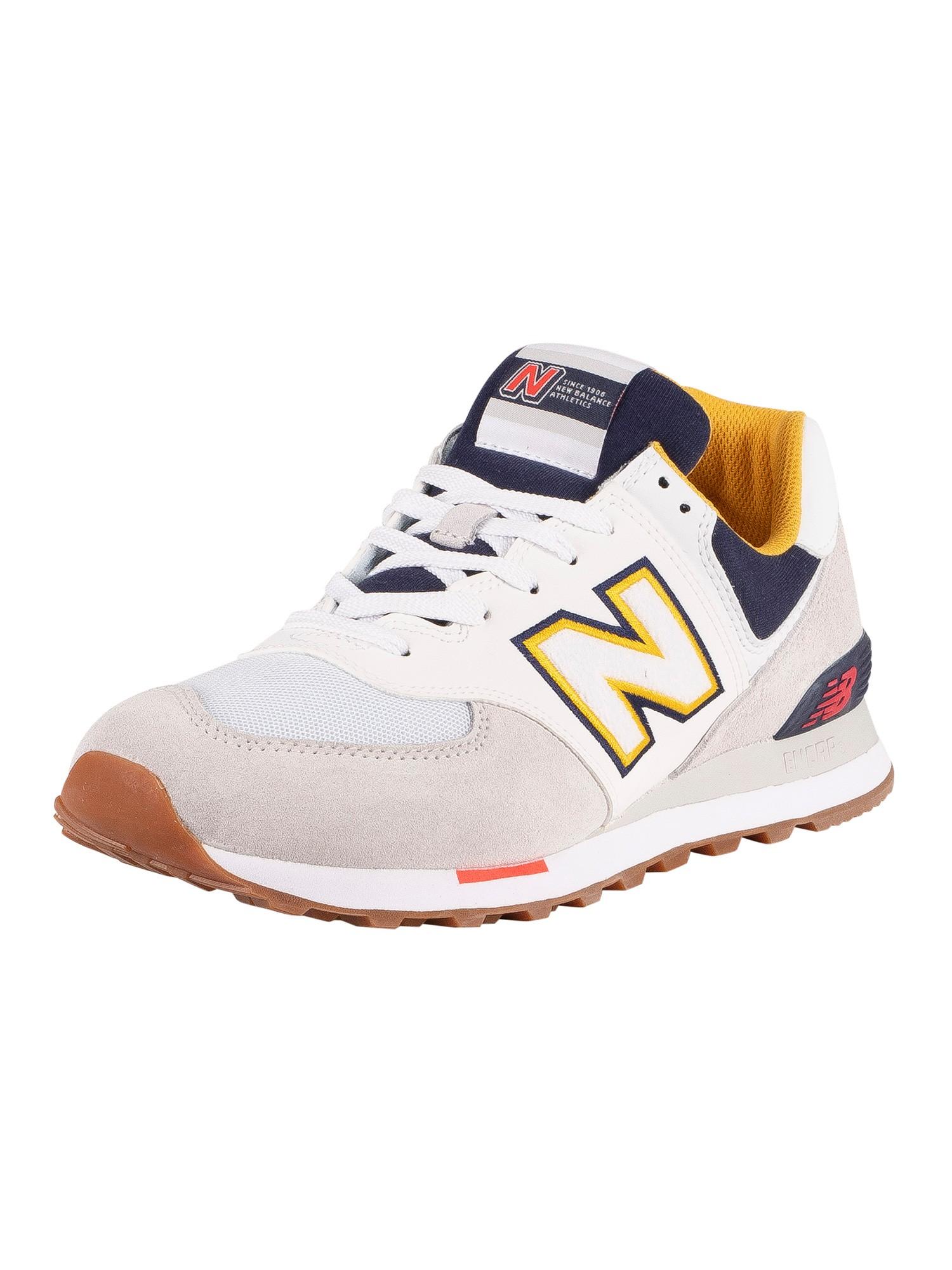 new balance 574 uomo pelle bianca