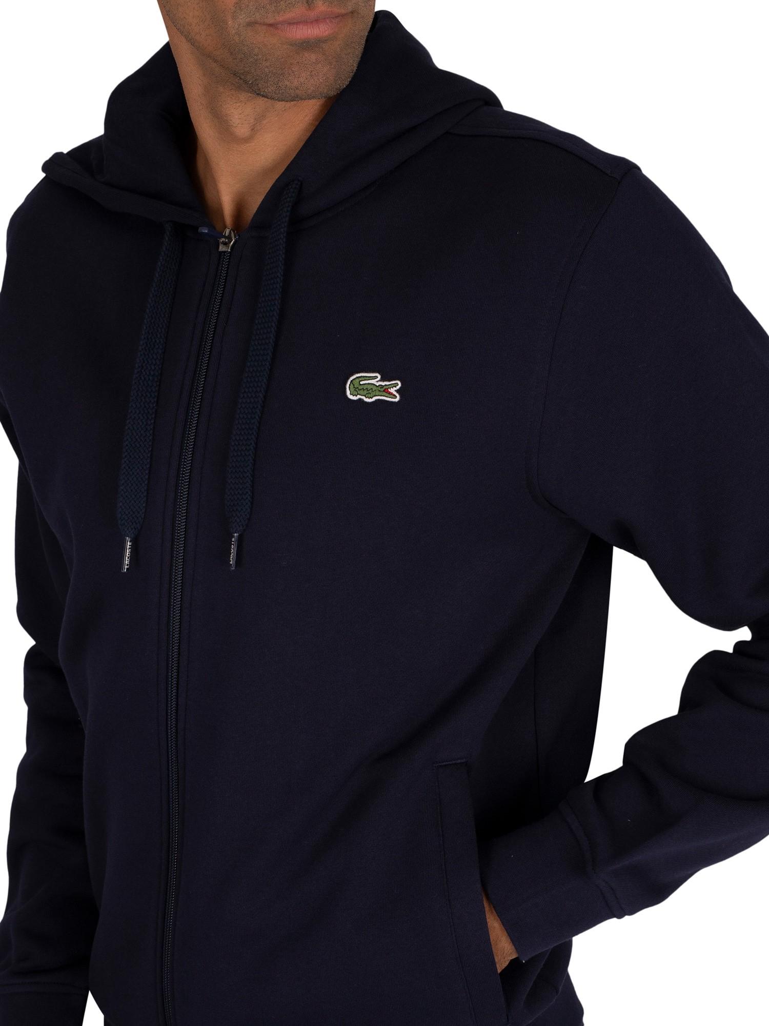 Lacoste Men/'s Sport Zip Hoodie in Navy SH1551-00//423