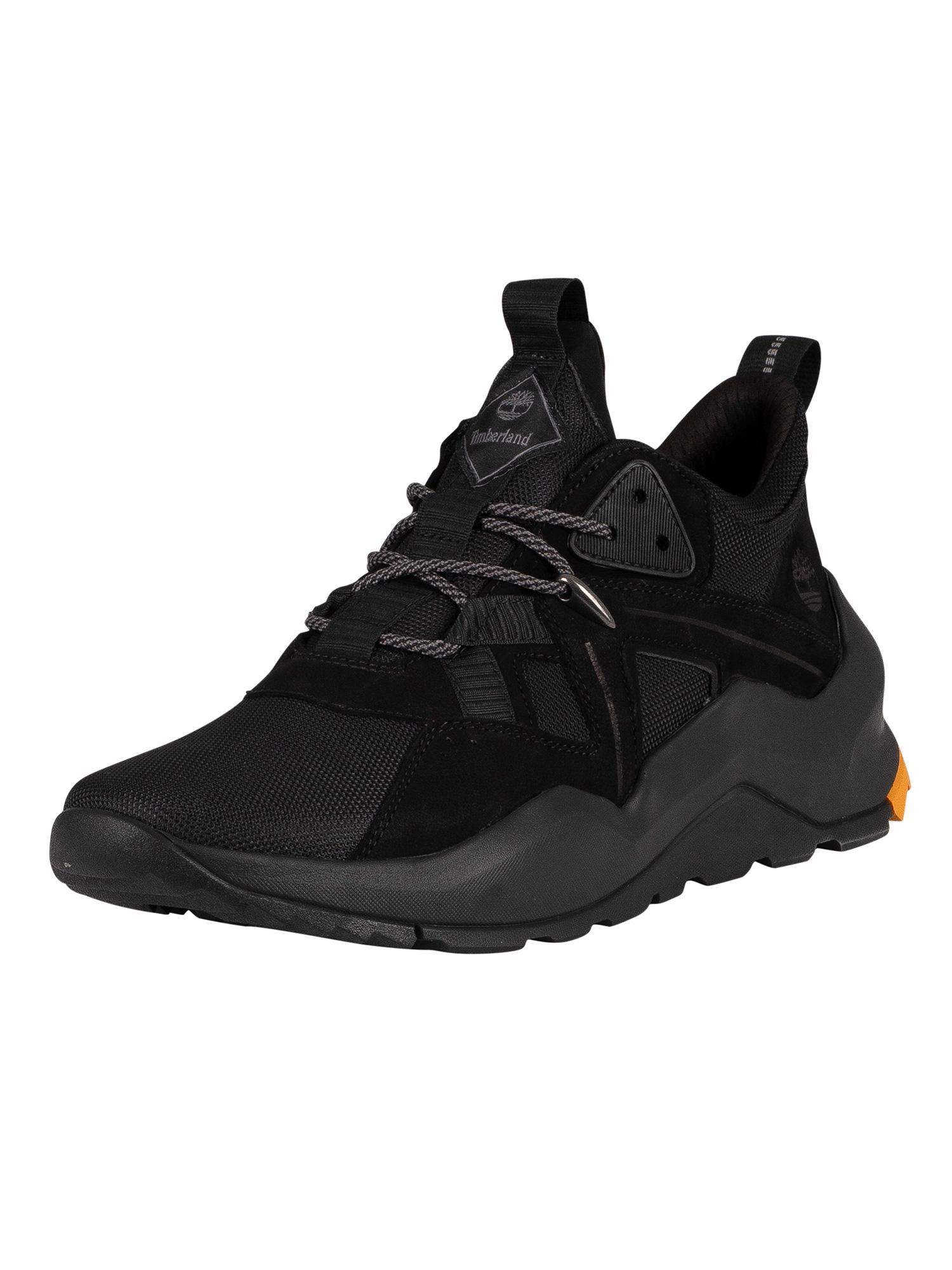 black timberland trainers