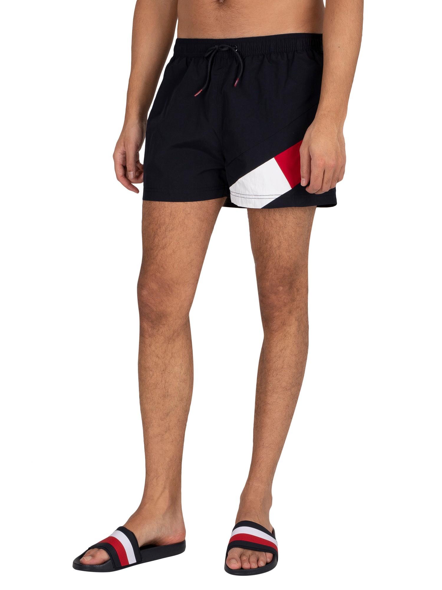 Short Drawstring Regular Swim Shorts