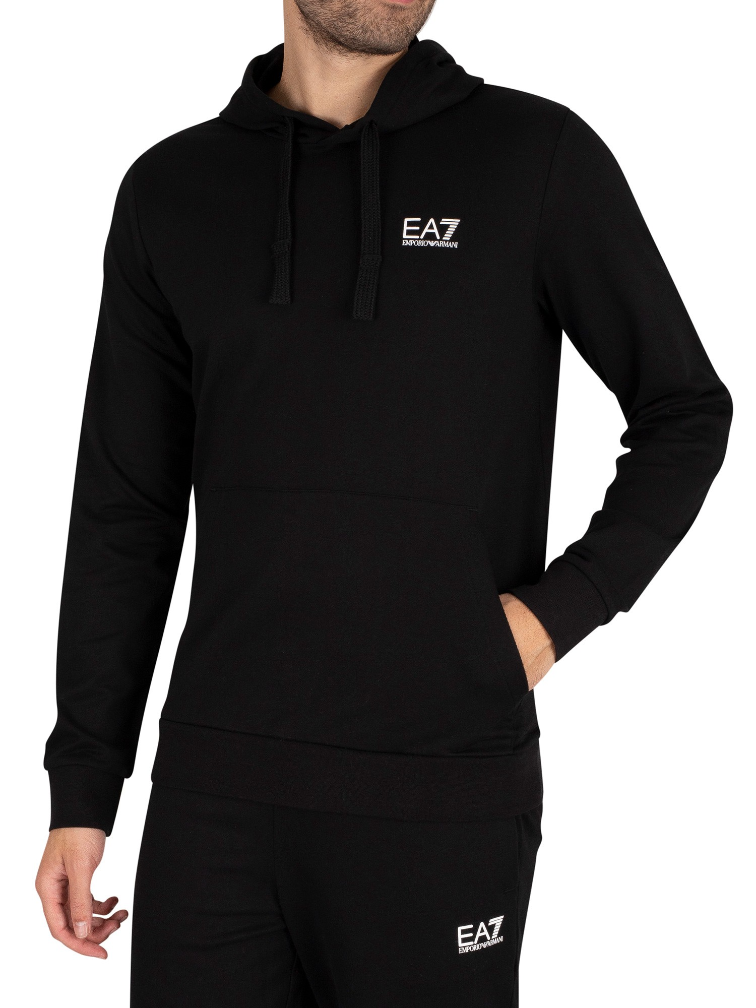 Logo Jersey Pullover Hoodie