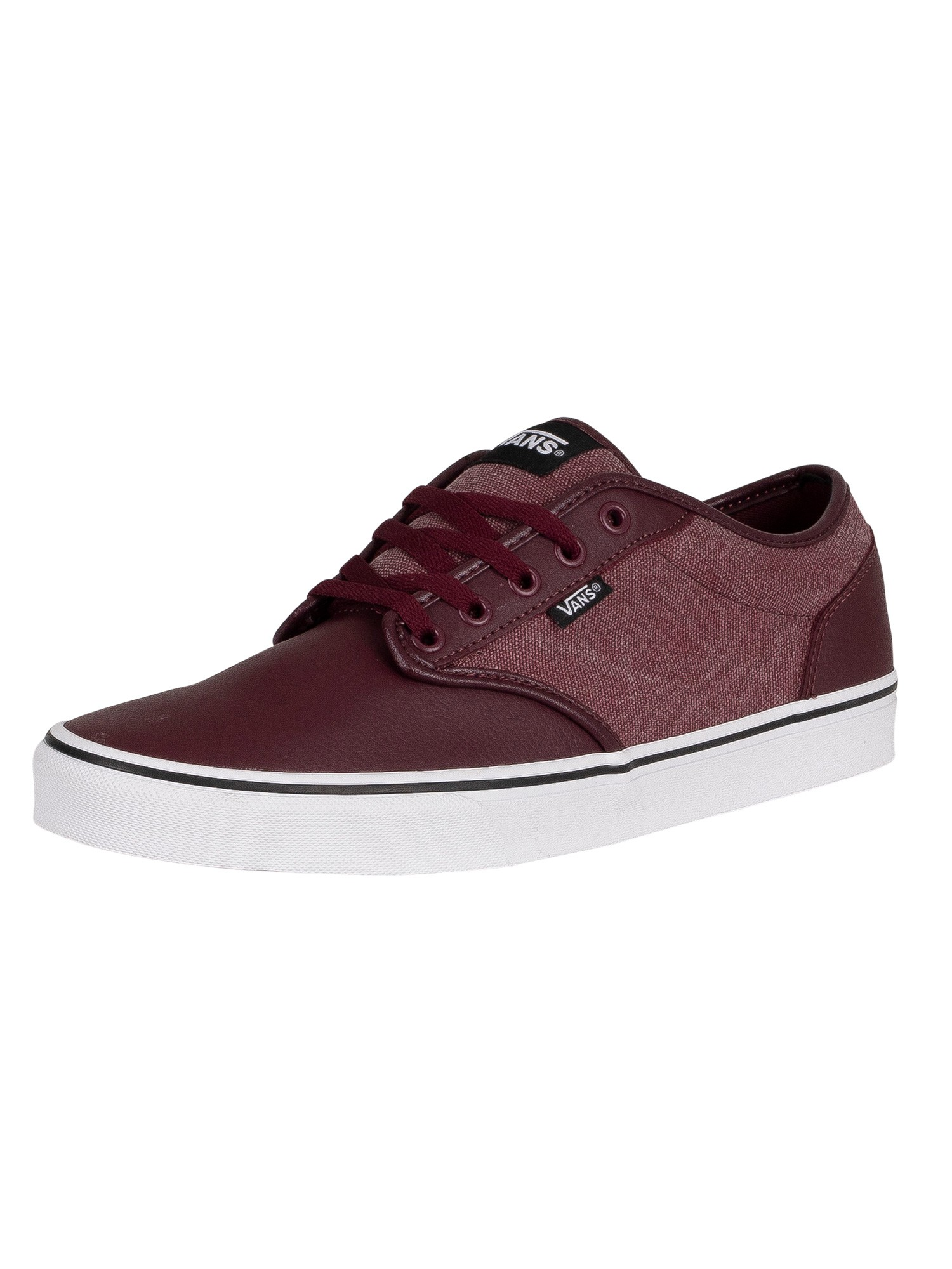 Atwood Leather Washed Canvas Trainers