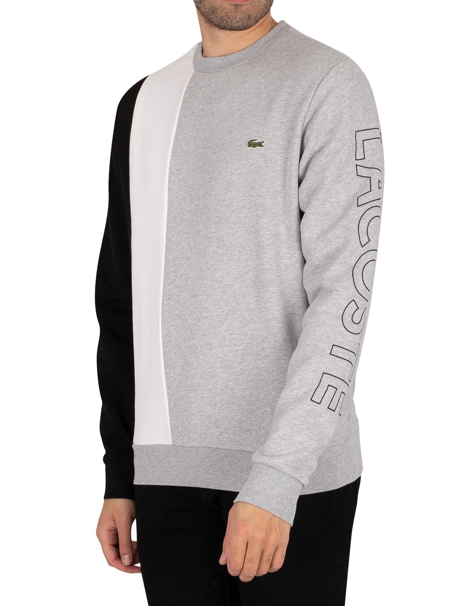 Lettered Colourblock Fleece Sweatshirt