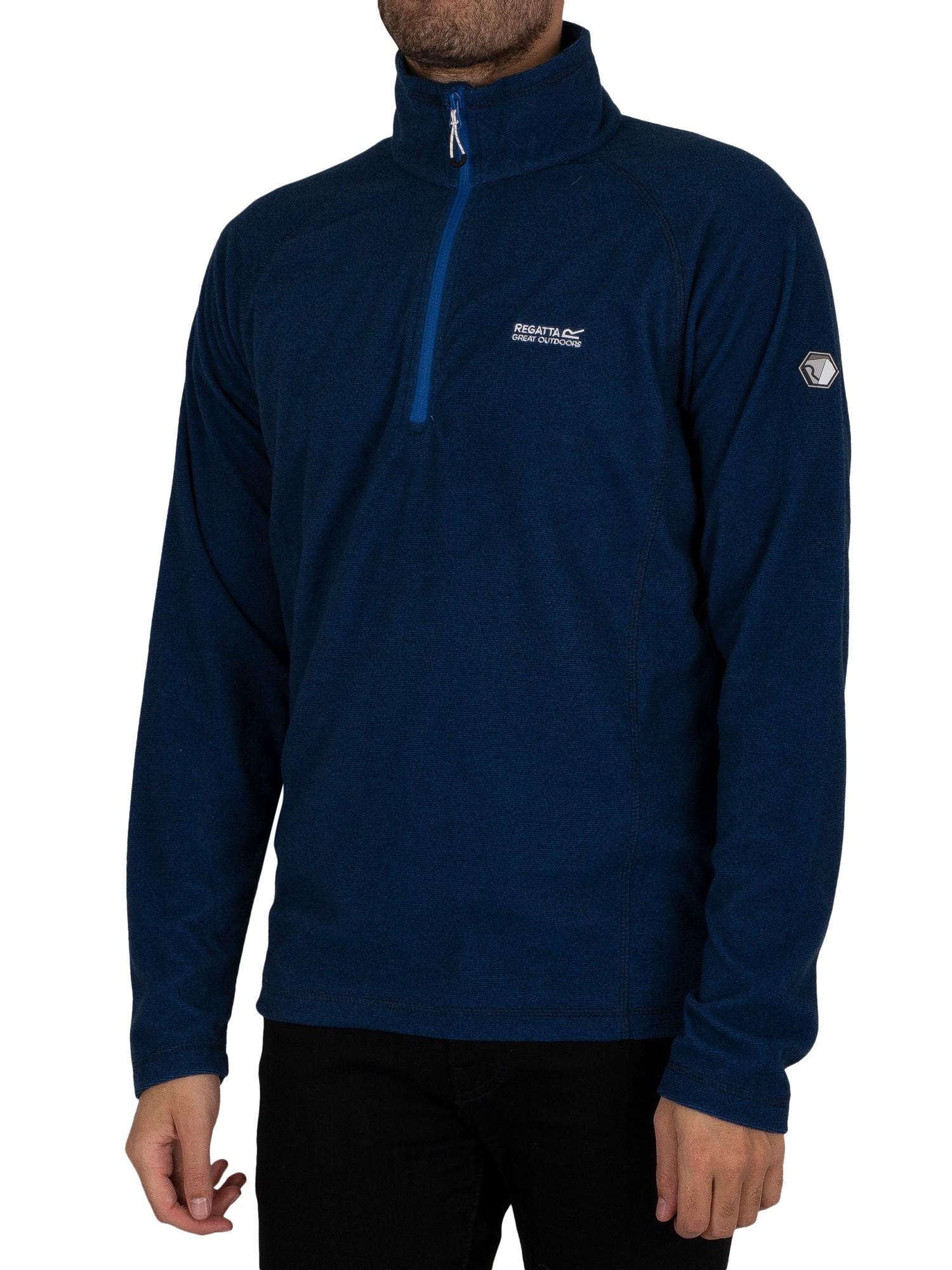 Montes Lightweight Half Zip Mini Stripe Sweatshirt